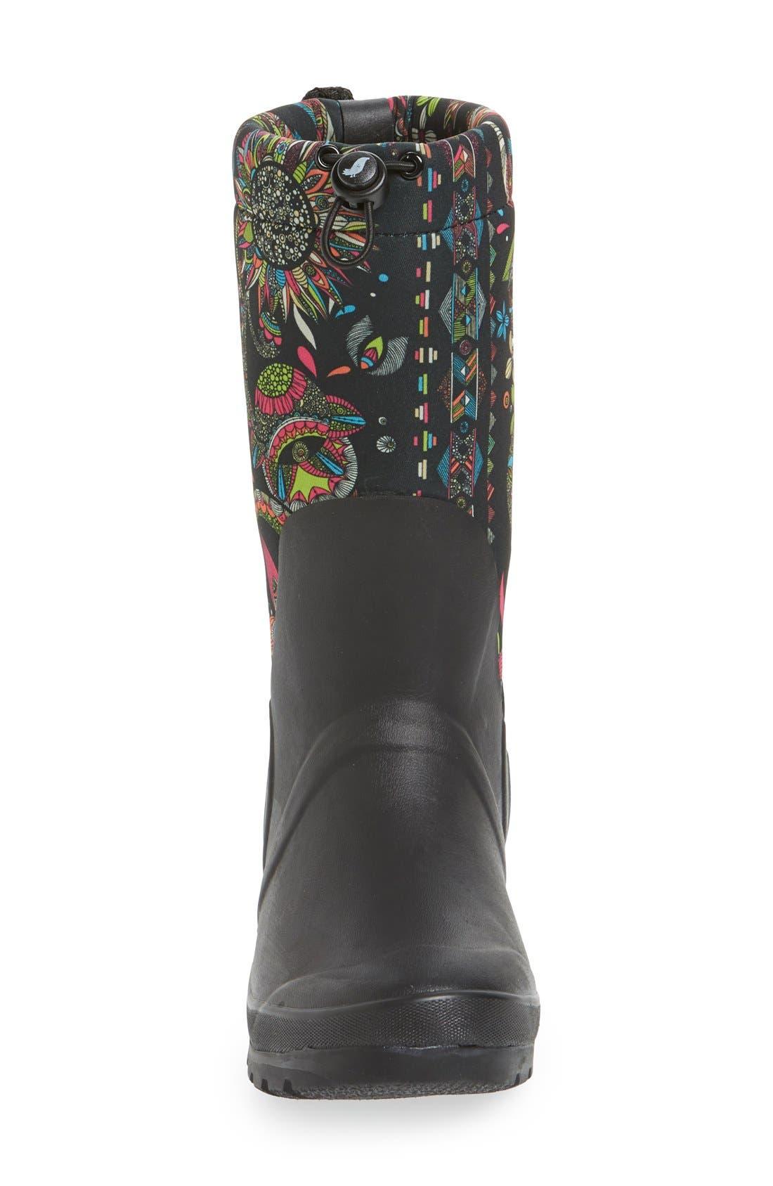 'Mezzo' Waterproof Rain Boot,                             Alternate thumbnail 3, color,                             003