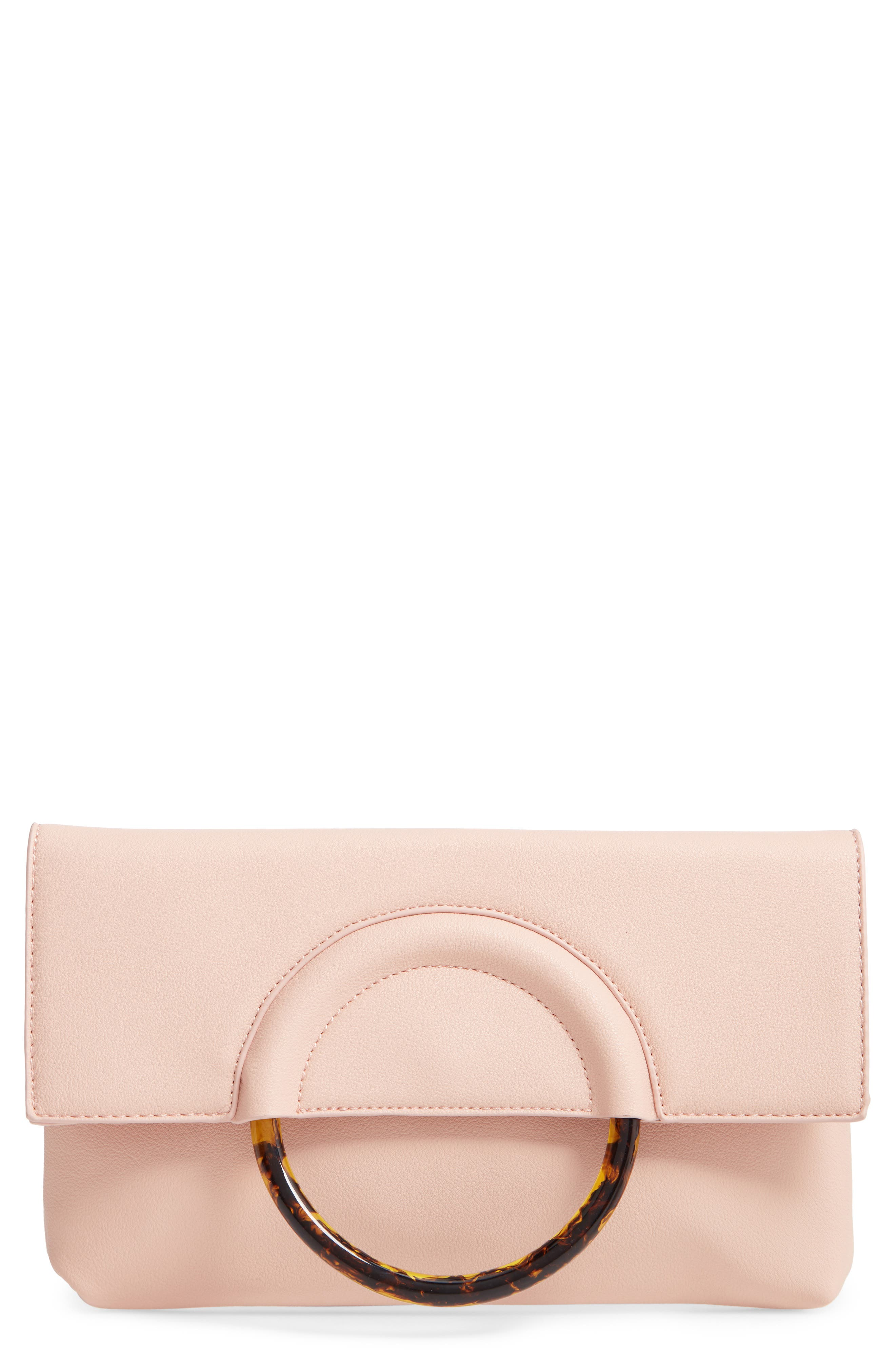 Resin Handle Clutch,                             Main thumbnail 1, color,                             NUDE