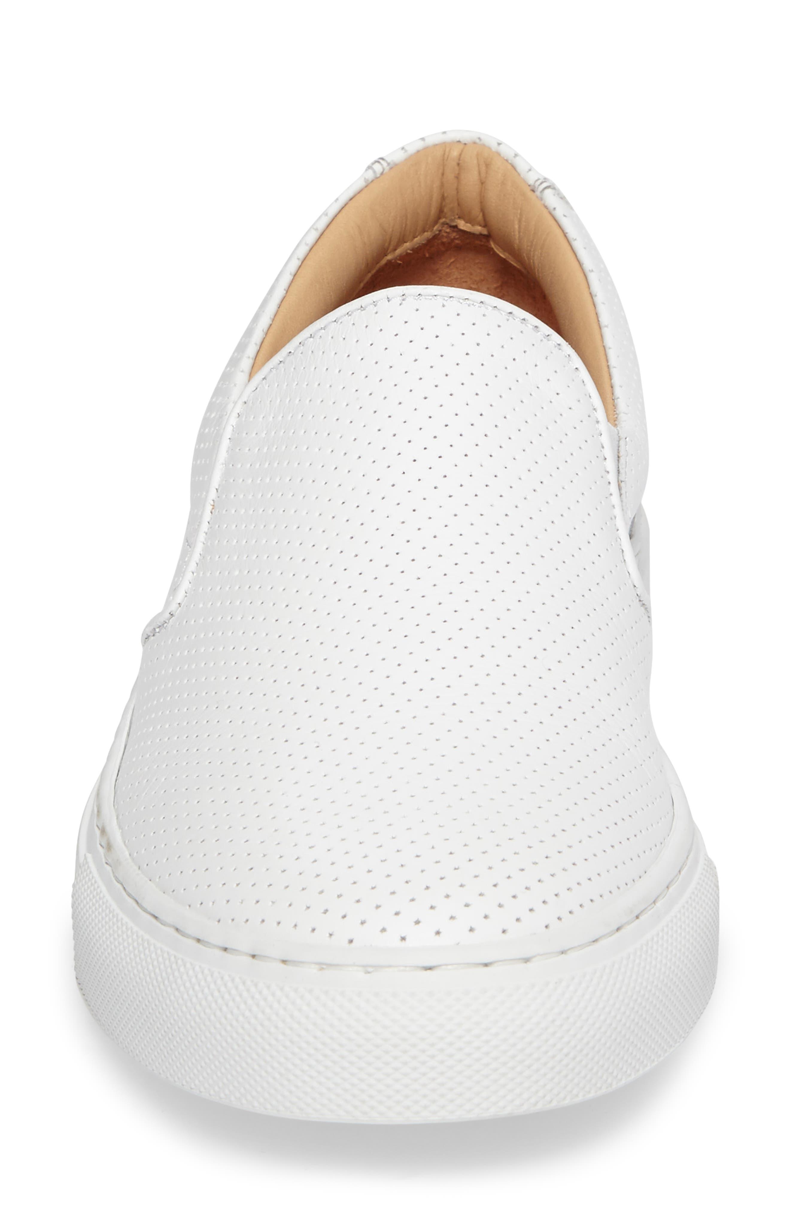 Wooster Slip-On Sneaker,                             Alternate thumbnail 4, color,                             WHITE PERFORATED