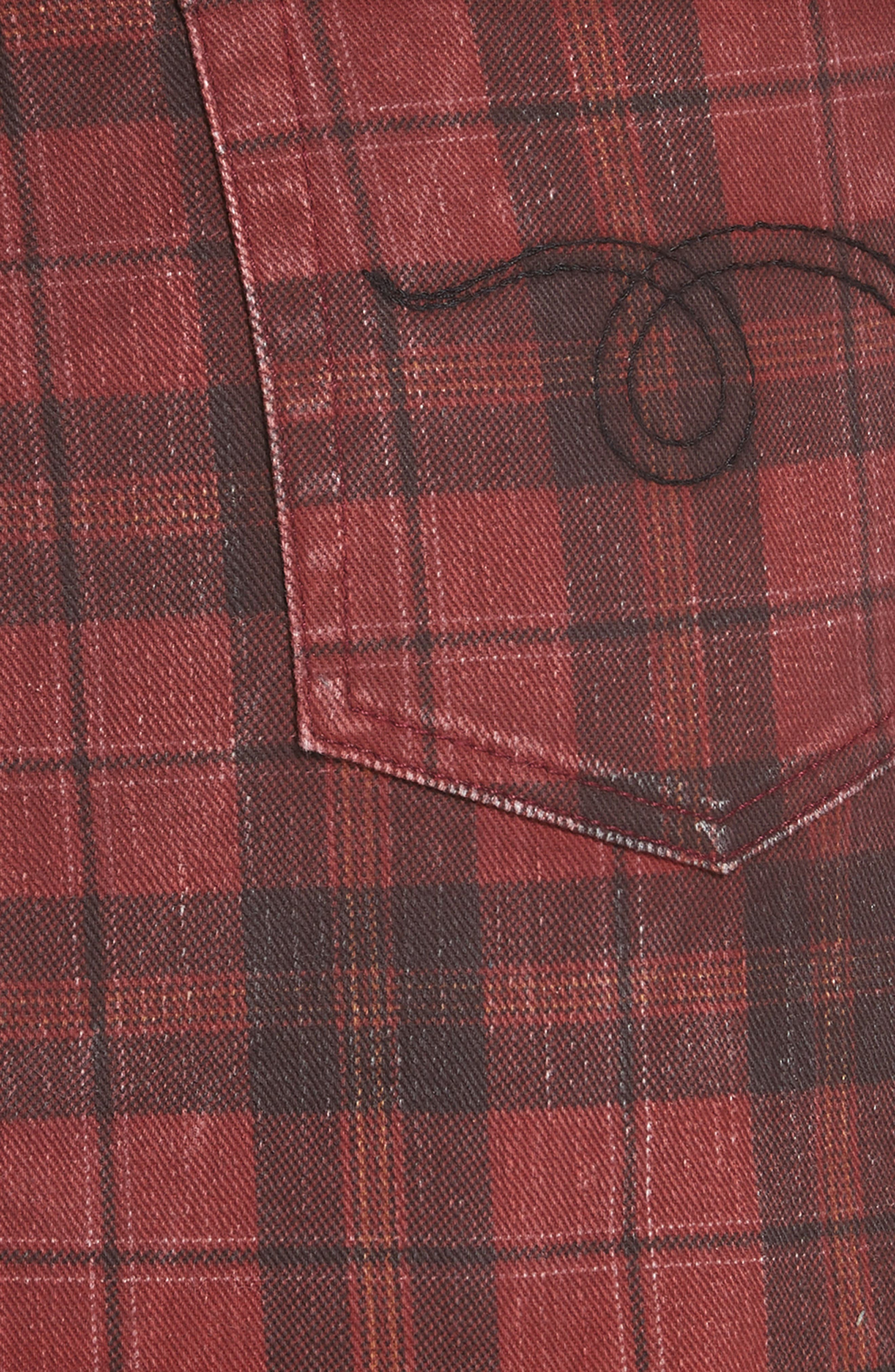 R13,                             Plaid Denim Miniskirt,                             Alternate thumbnail 5, color,                             600