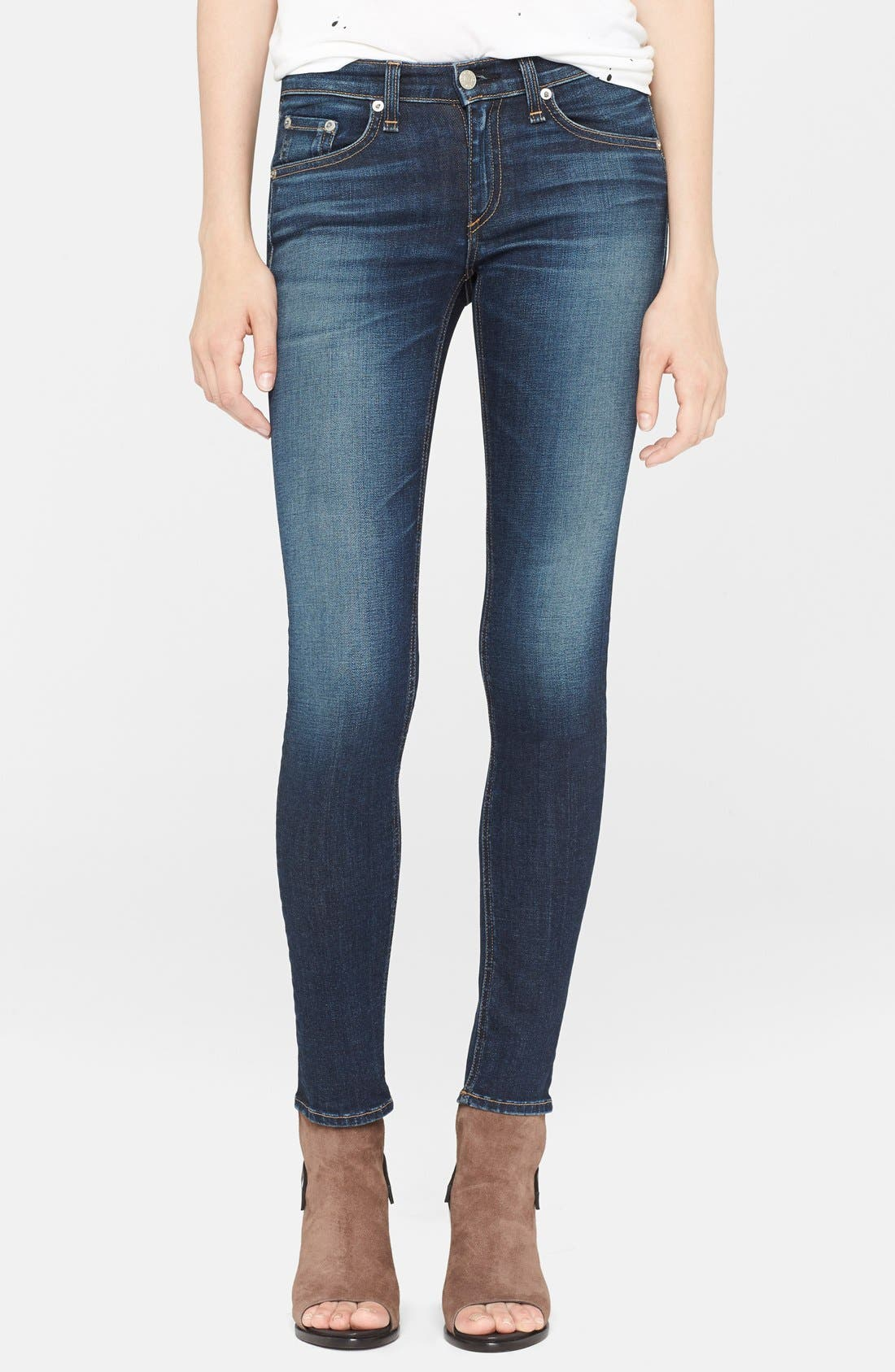 'The Skinny' Stretch Jeans,                             Main thumbnail 12, color,