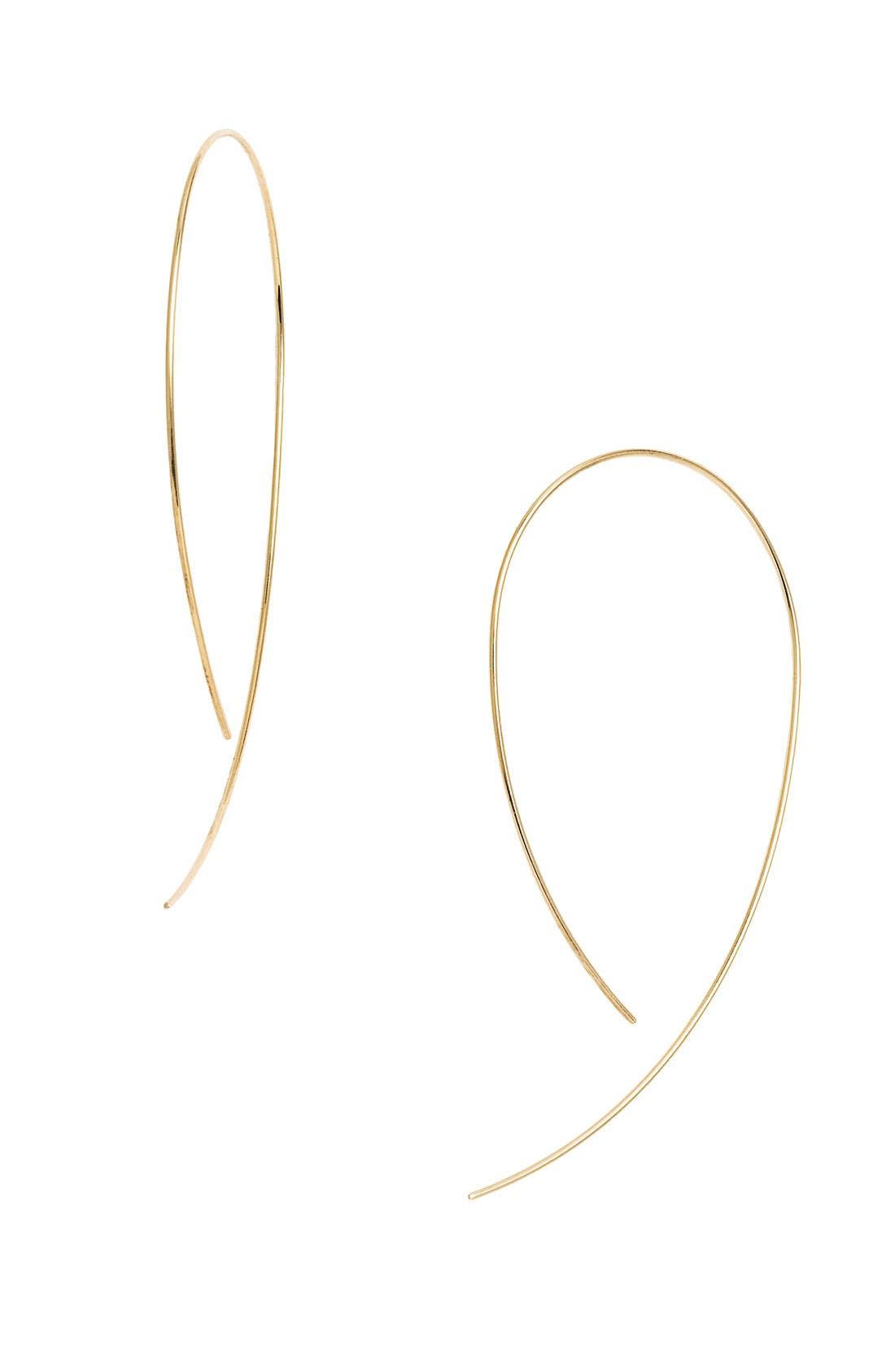 'Hooked on Hoop' Earrings,                             Main thumbnail 1, color,                             YELLOW GOLD