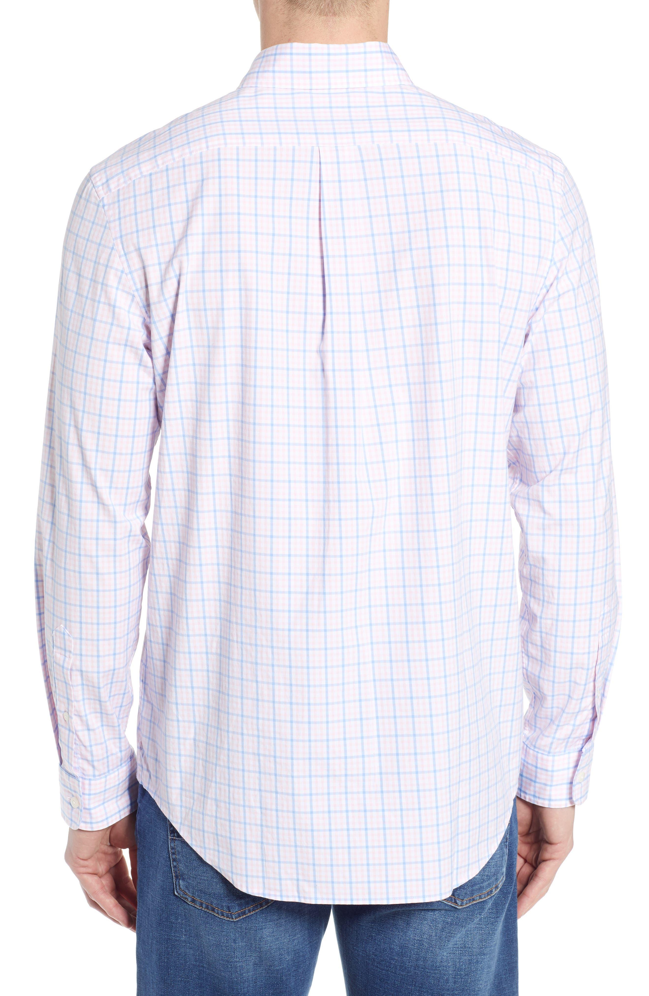 Murray Classic Fit Check Sport Shirt,                             Alternate thumbnail 3, color,                             FLAMINGO