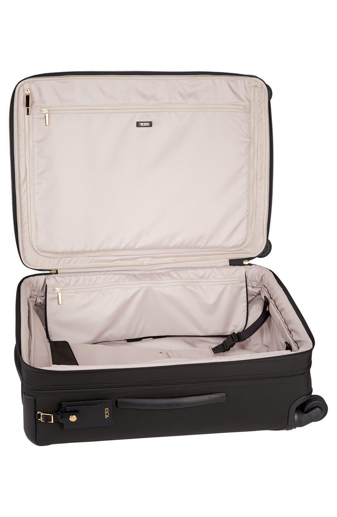 Larkin - Jess Short Trip 26-Inch Expandable 4-Wheel Suitcase,                             Alternate thumbnail 9, color,                             BLACK