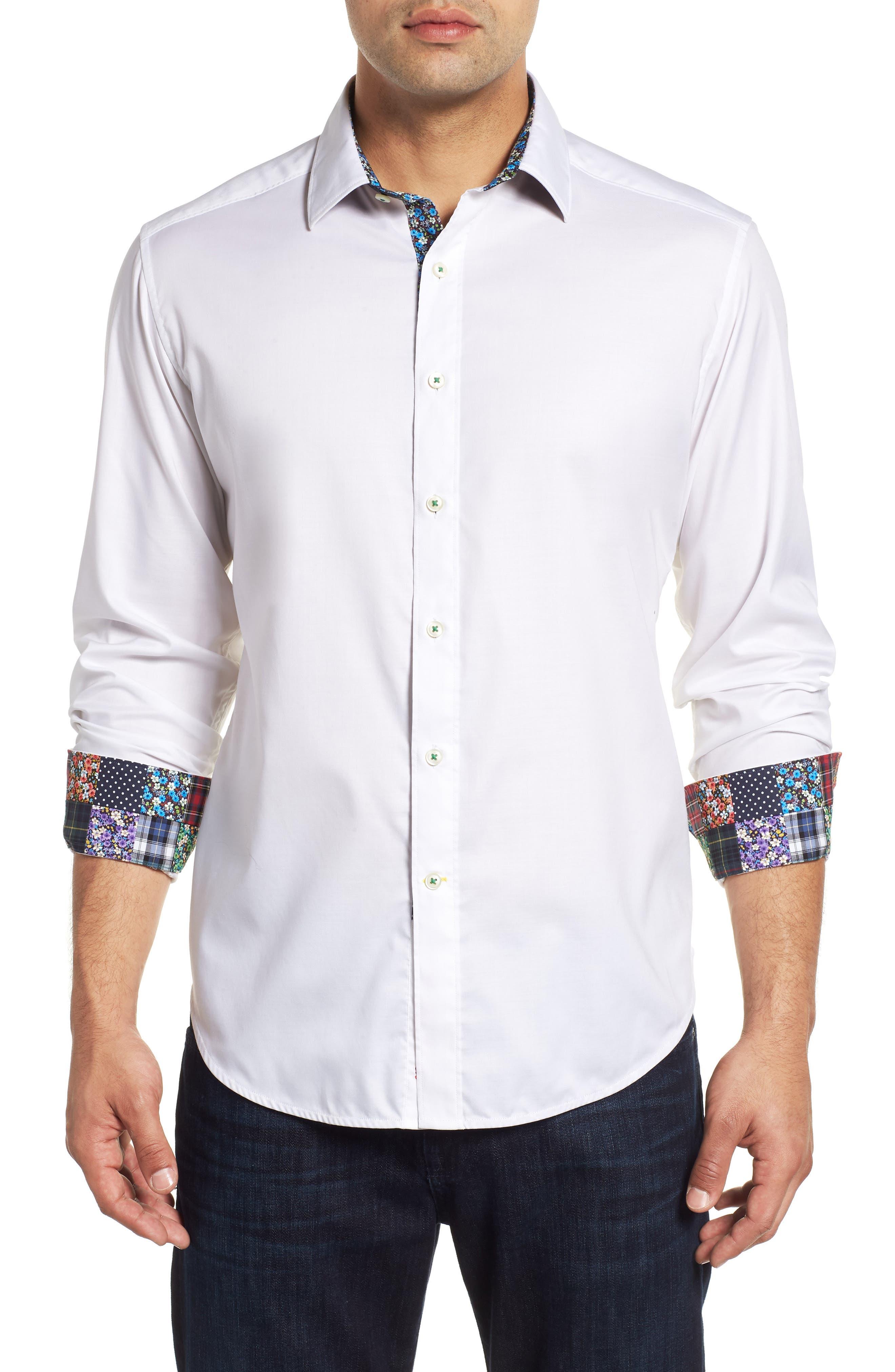 ROBERT GRAHAM,                             Bridgeman Classic Fit Sport Shirt,                             Main thumbnail 1, color,                             100