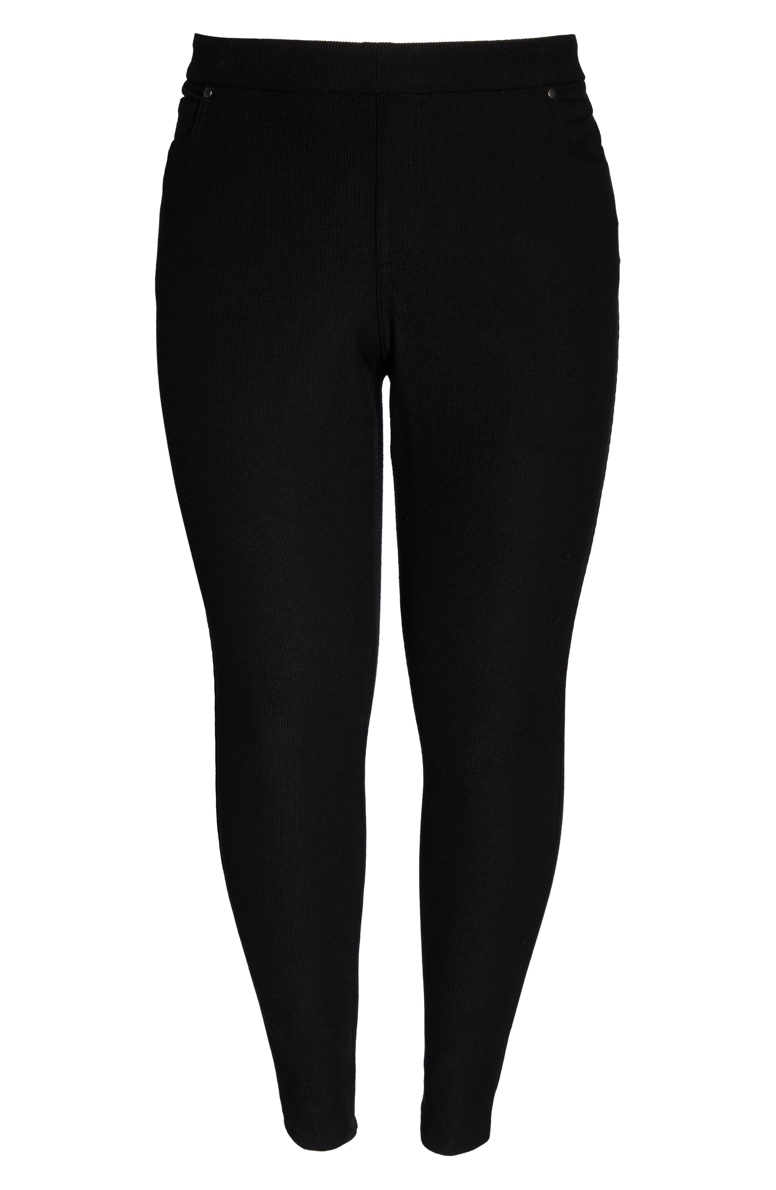 5-Pocket Skinny Pants,                             Alternate thumbnail 7, color,                             BLACK