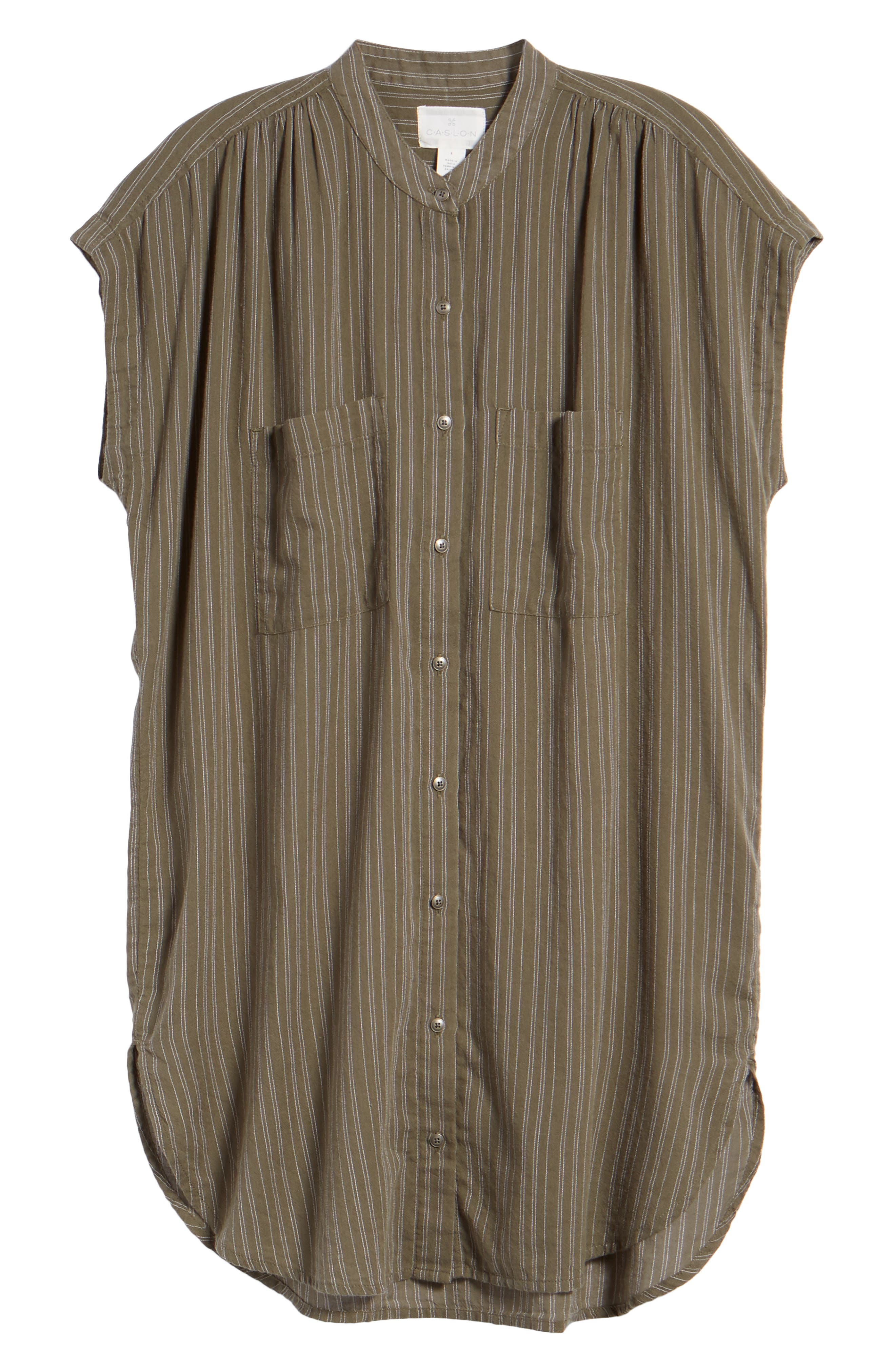 Button Front Longline Top,                             Alternate thumbnail 45, color,