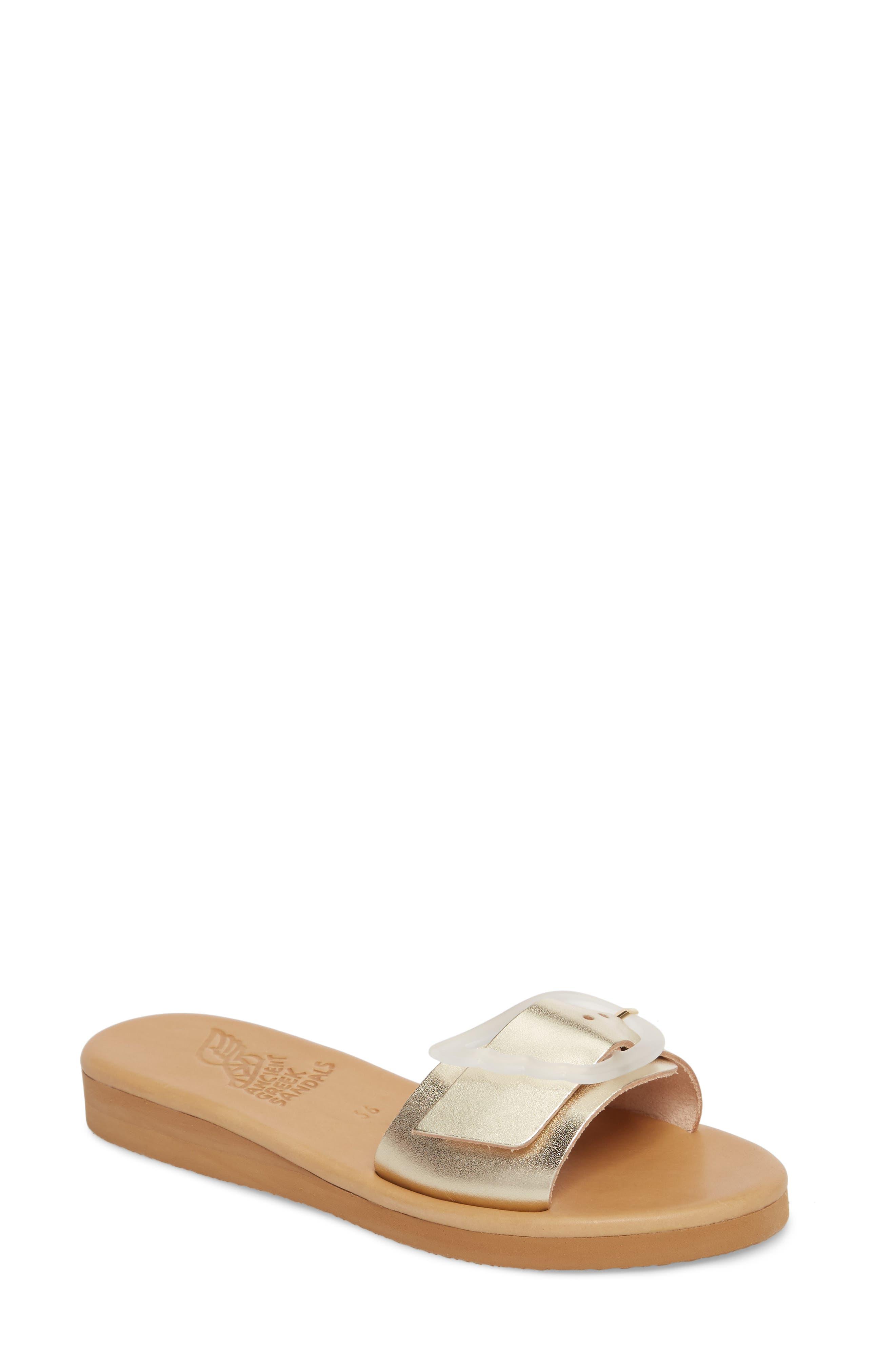 Aglaia Slide Sandal,                         Main,                         color, PLATINUM