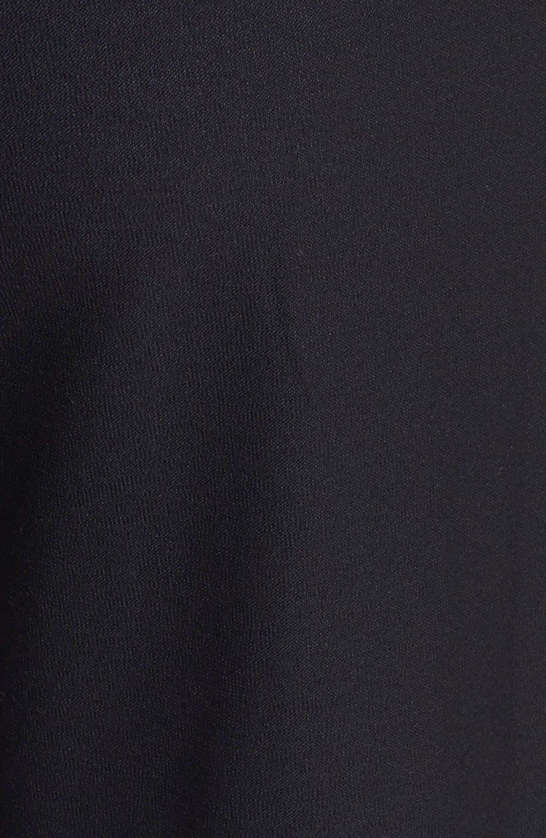 Straight Leg Crepe Pants,                             Alternate thumbnail 3, color,                             BLACK