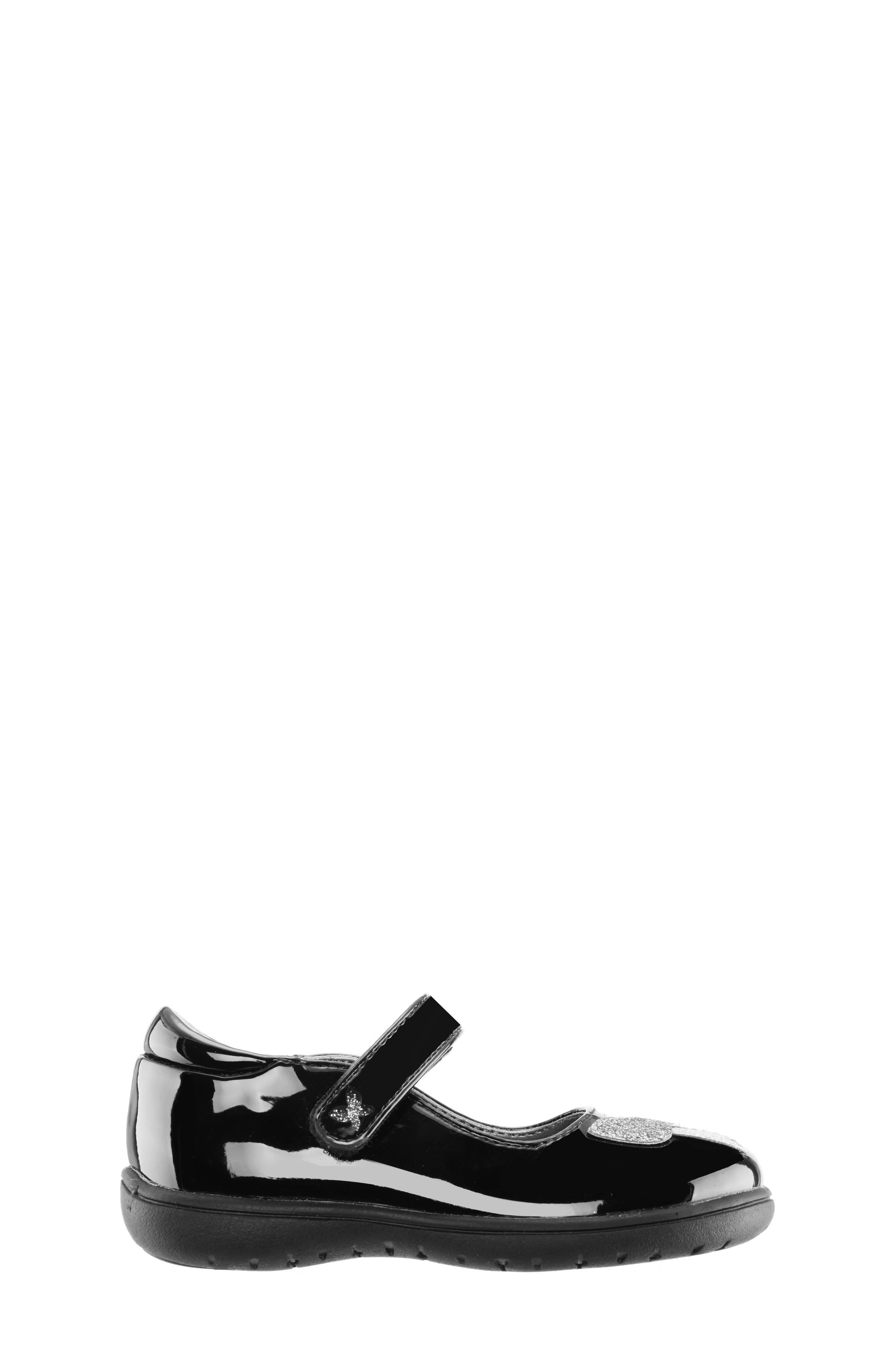 Alysha Glitter Mary Jane,                             Alternate thumbnail 3, color,                             BLACK/ PATENT GLITTER