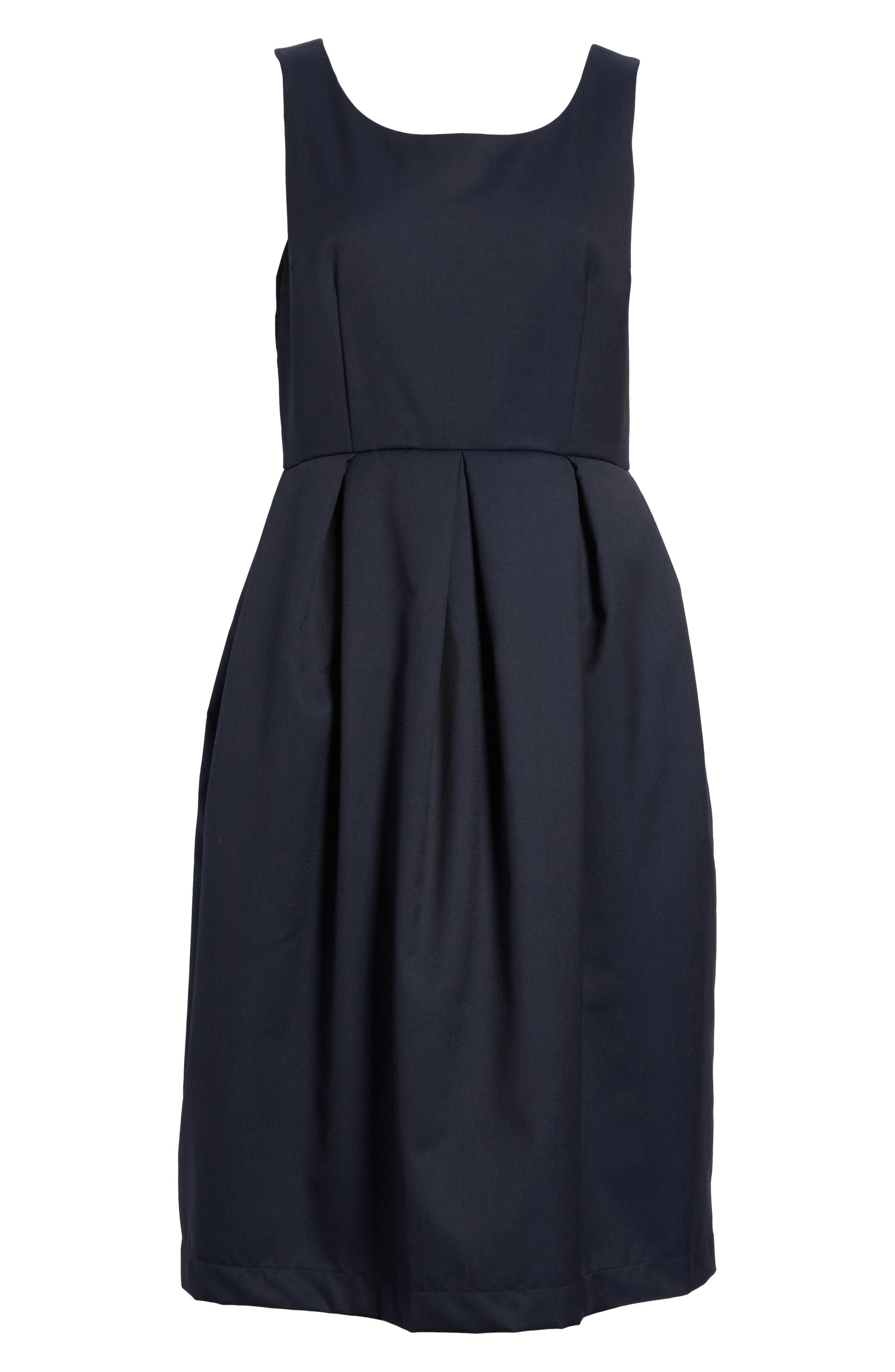Comme de Garçons Sleeveless Fit & Flare Dress,                             Alternate thumbnail 6, color,                             400