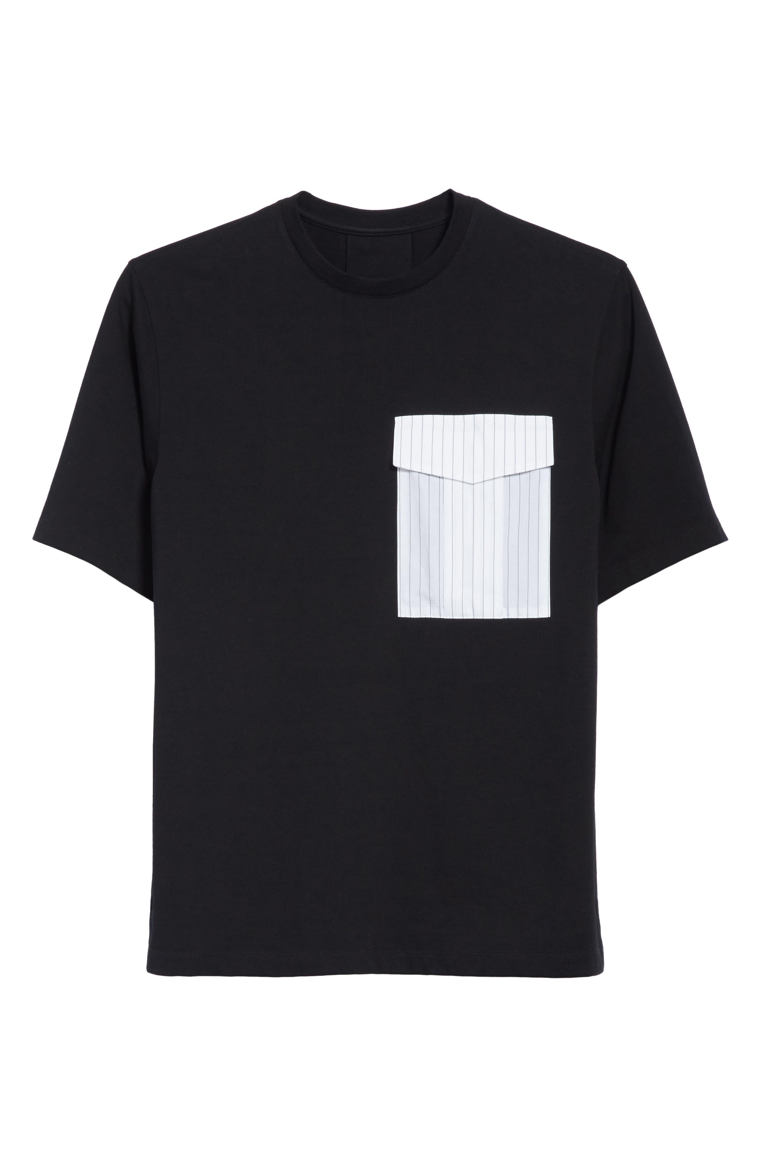 Pinstripe Pocket T-Shirt,                             Alternate thumbnail 6, color,