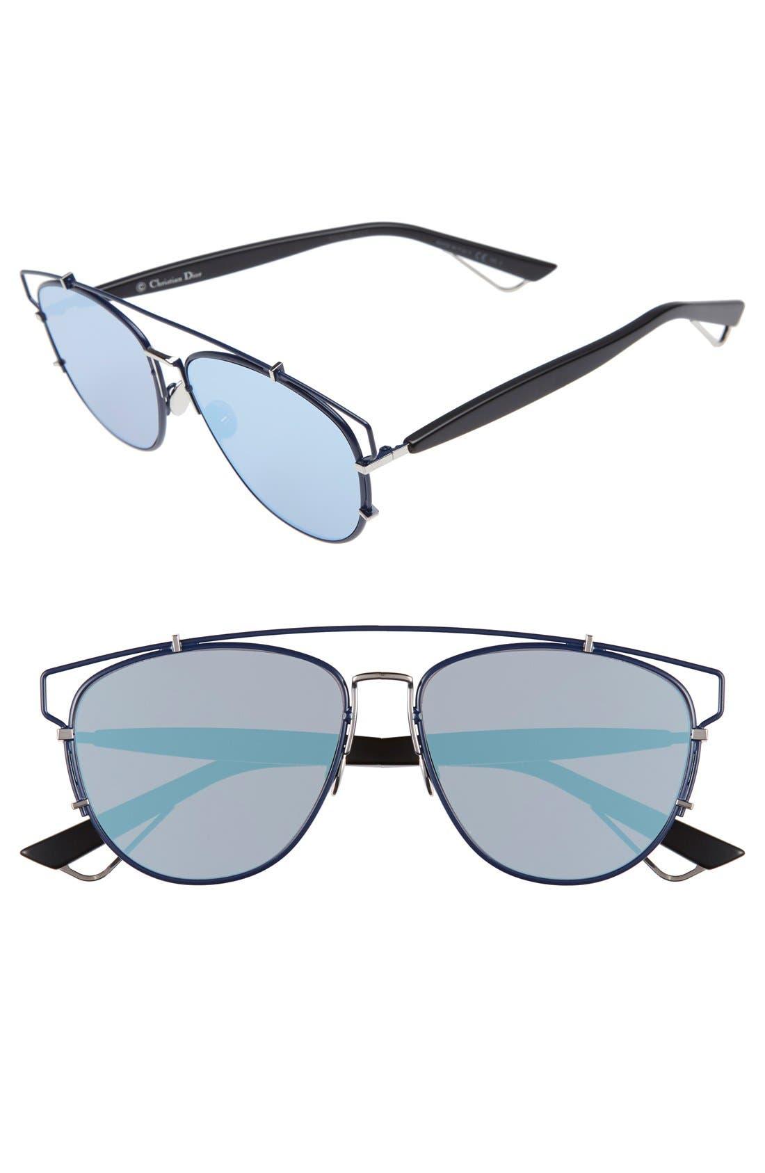 Technologic 57mm Brow Bar Sunglasses,                             Main thumbnail 8, color,