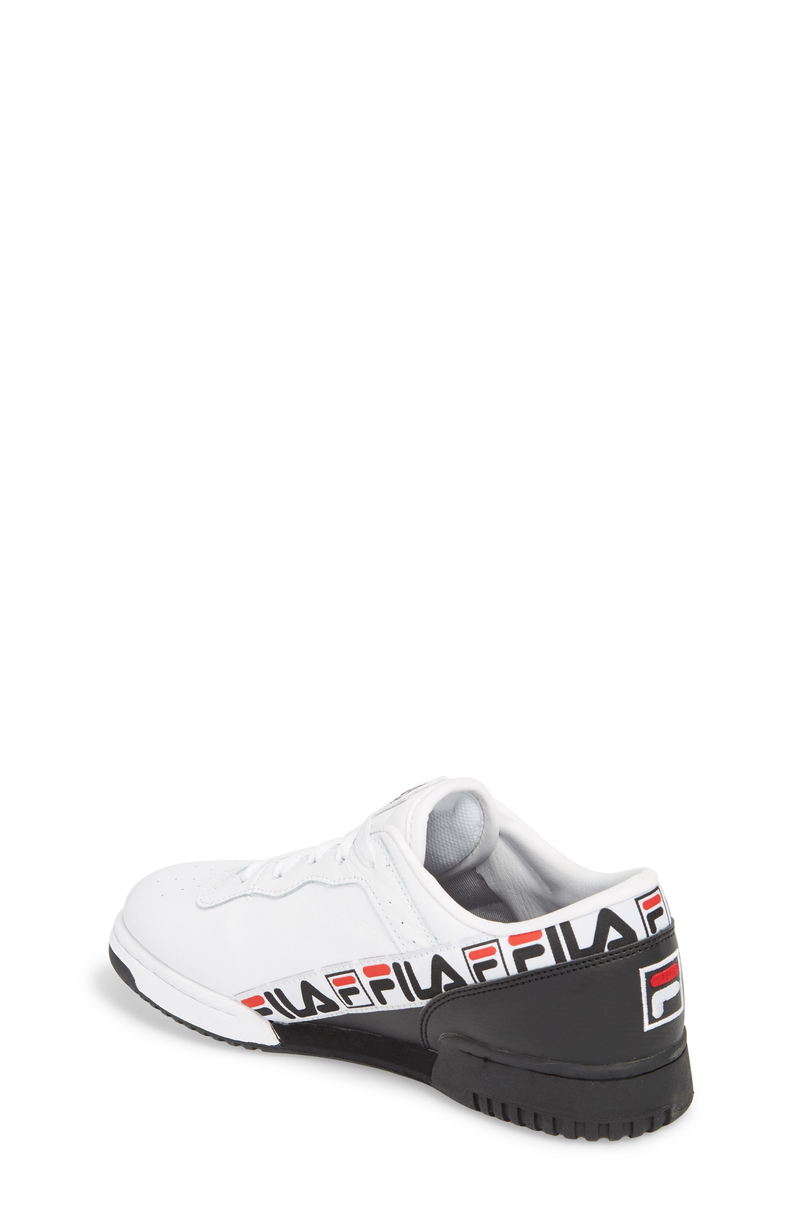 Original Fitness Logo Tape Sneaker,                             Alternate thumbnail 2, color,                             WHITE/ BLACK/ FILA RED