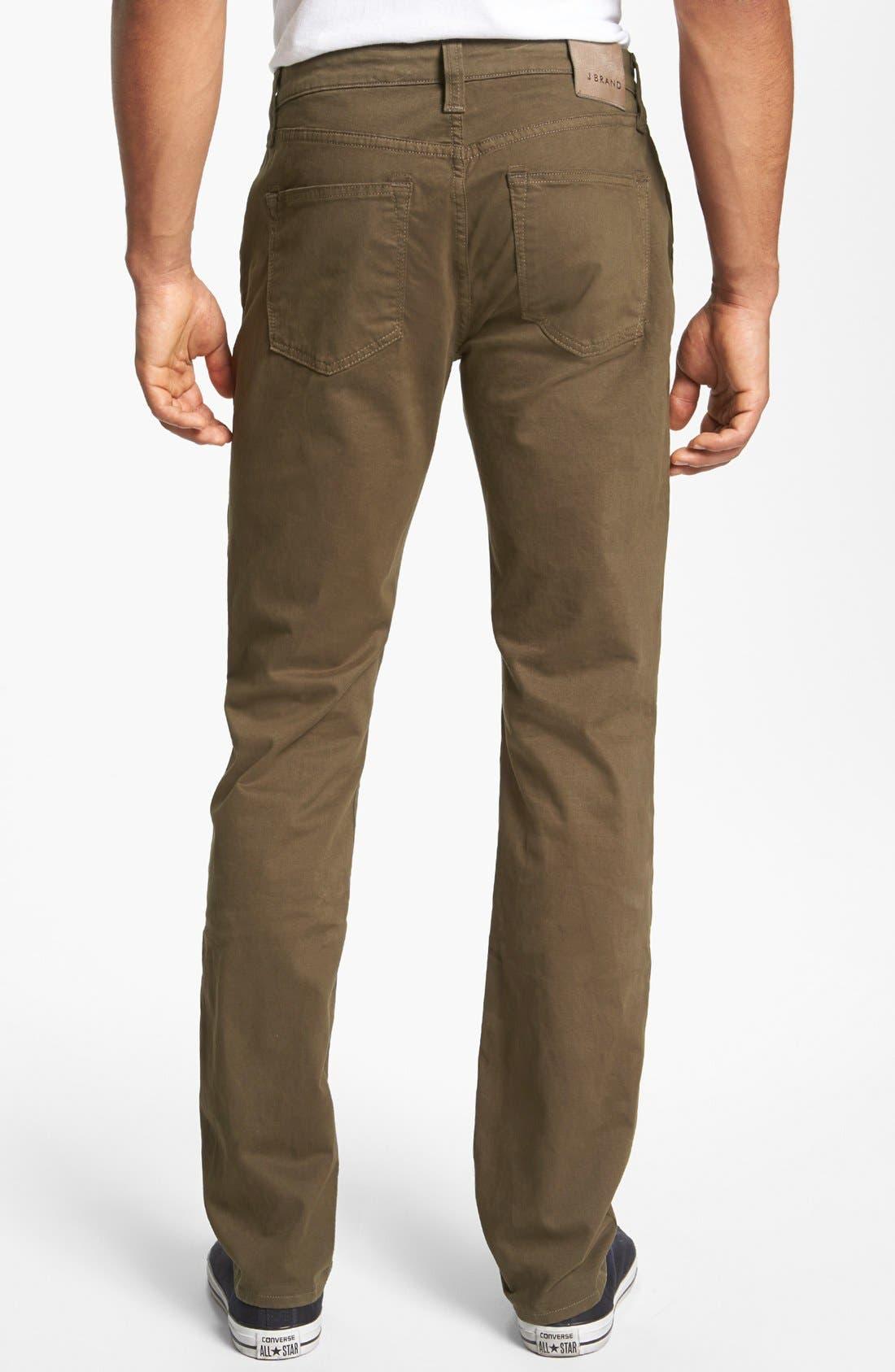 'Kane' Slim Fit Cotton Twill Pants,                             Alternate thumbnail 48, color,