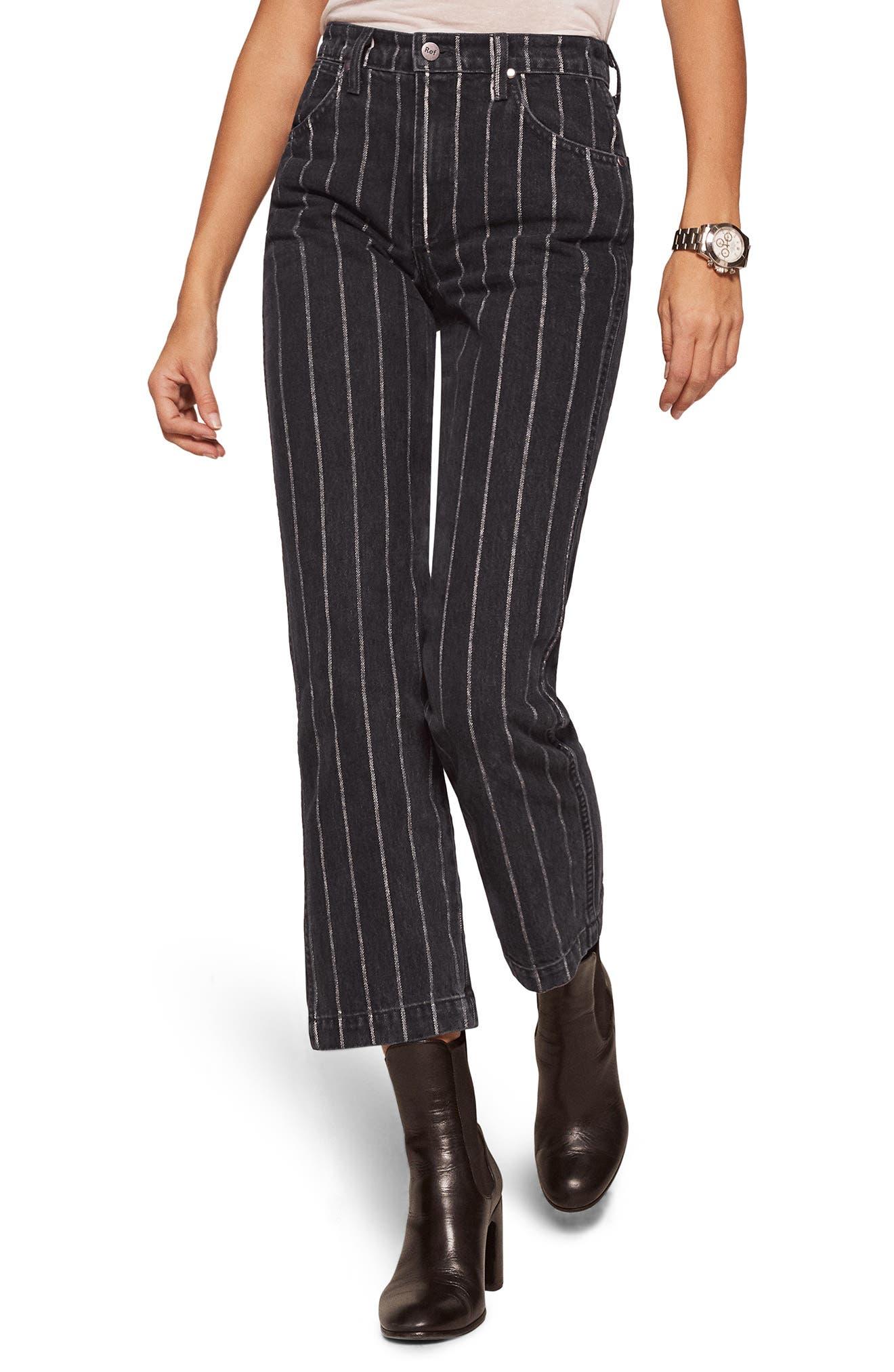 Roper Crop Straight Leg Jeans,                             Main thumbnail 1, color,                             001