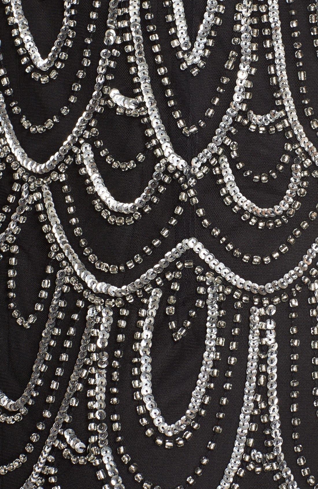 Embellished Mesh Sheath Dress,                             Alternate thumbnail 28, color,