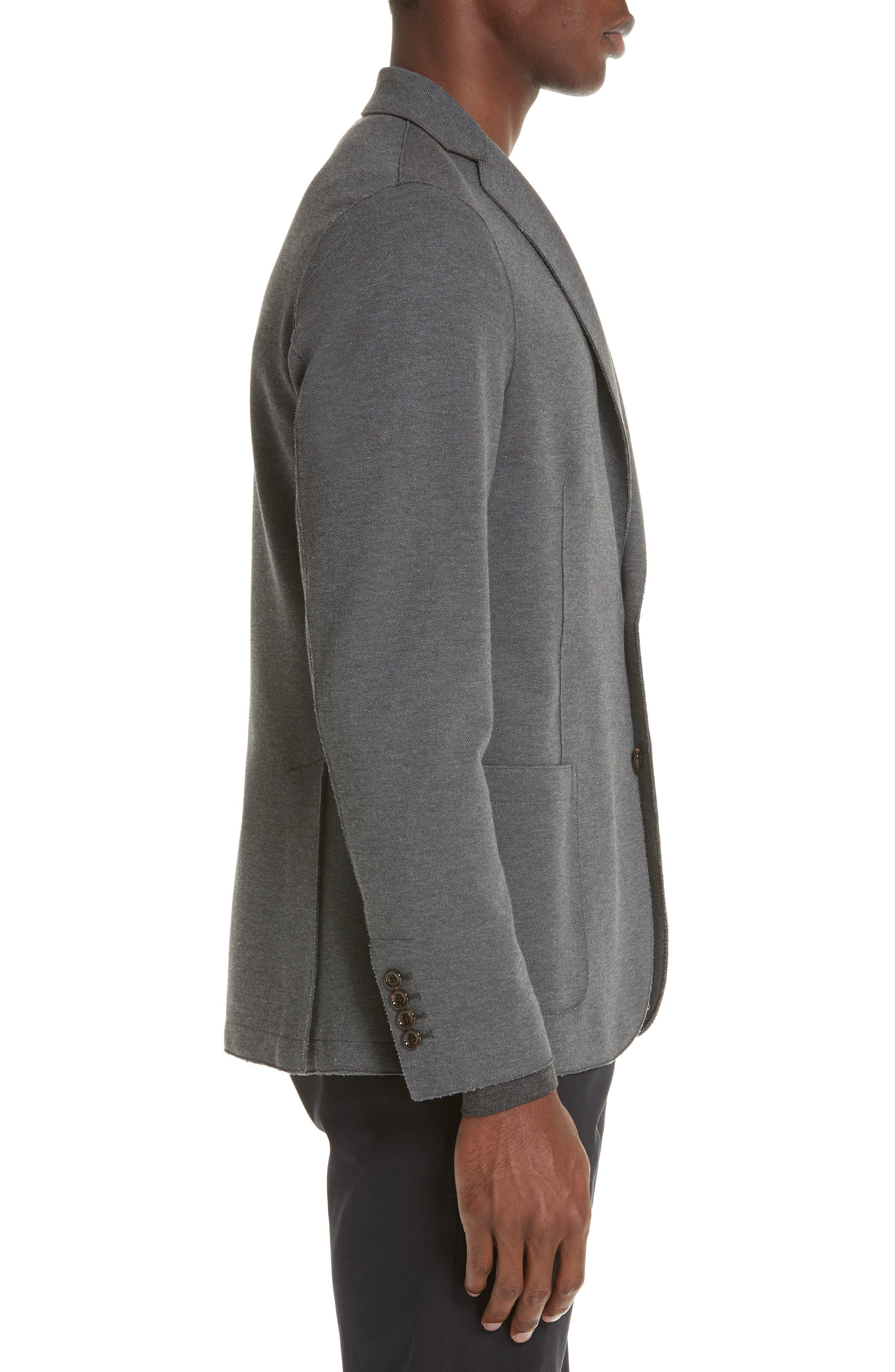Slim Fit Stretch Cotton Blend Sport Coat,                             Alternate thumbnail 3, color,                             MED GREY