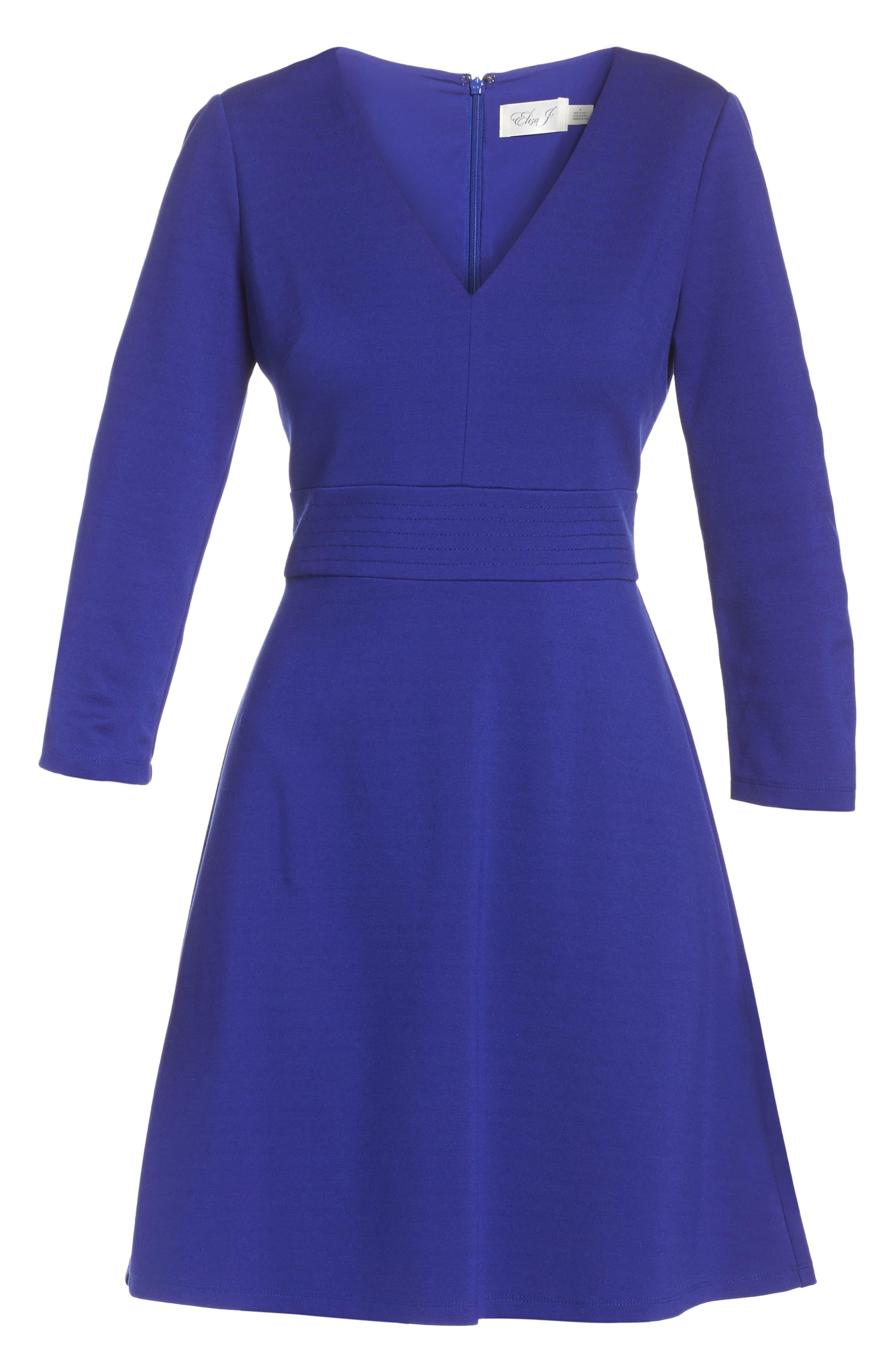 Fit & Flare Dress,                             Alternate thumbnail 6, color,                             430