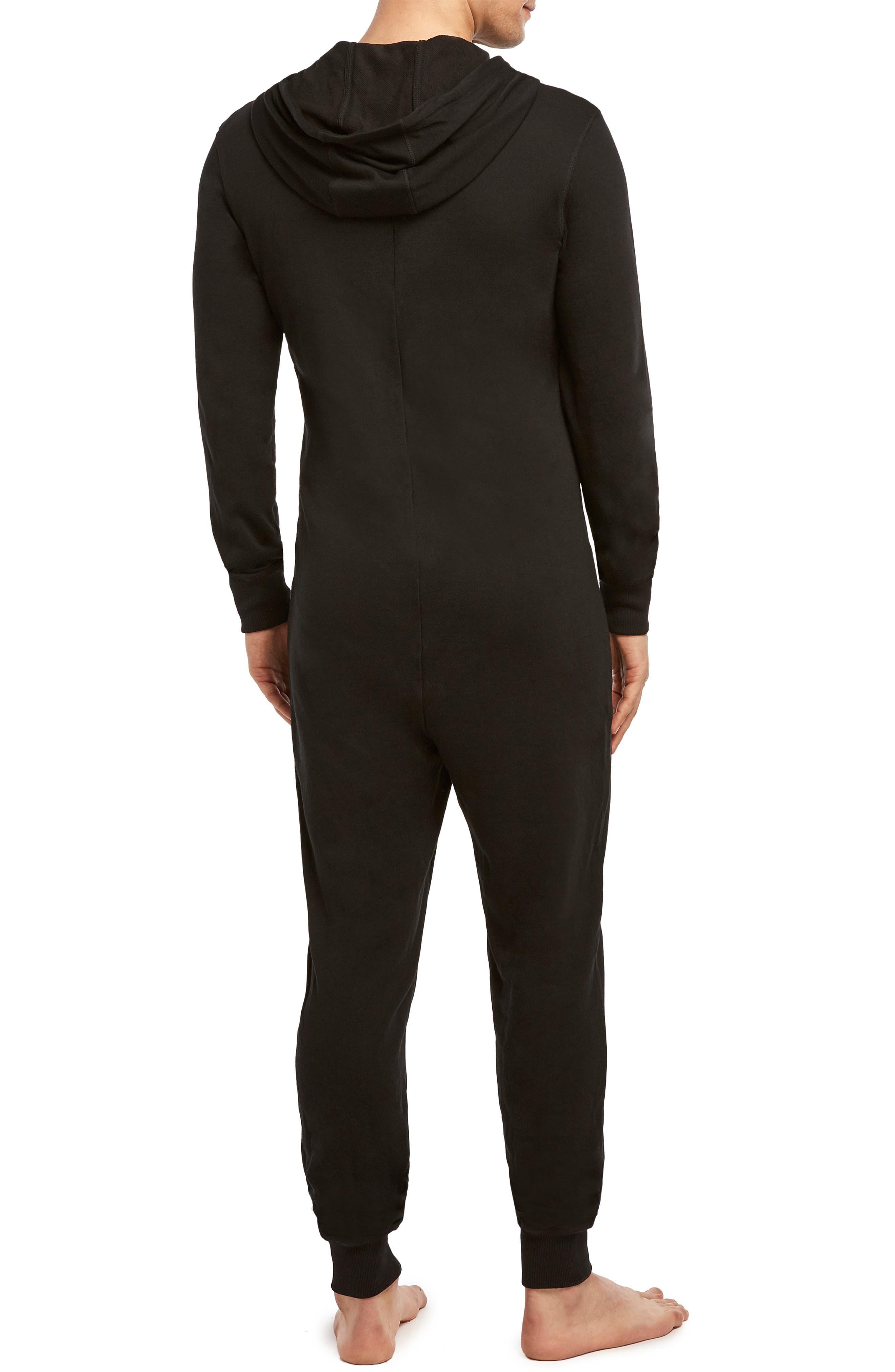 Terrycloth Jumpsuit,                             Alternate thumbnail 2, color,                             BLACK