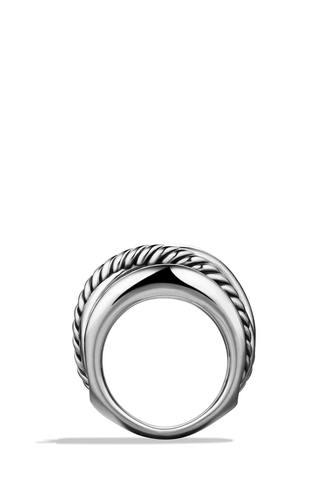 'Crossover' Wide Ring,                             Alternate thumbnail 3, color,                             NO COLOR