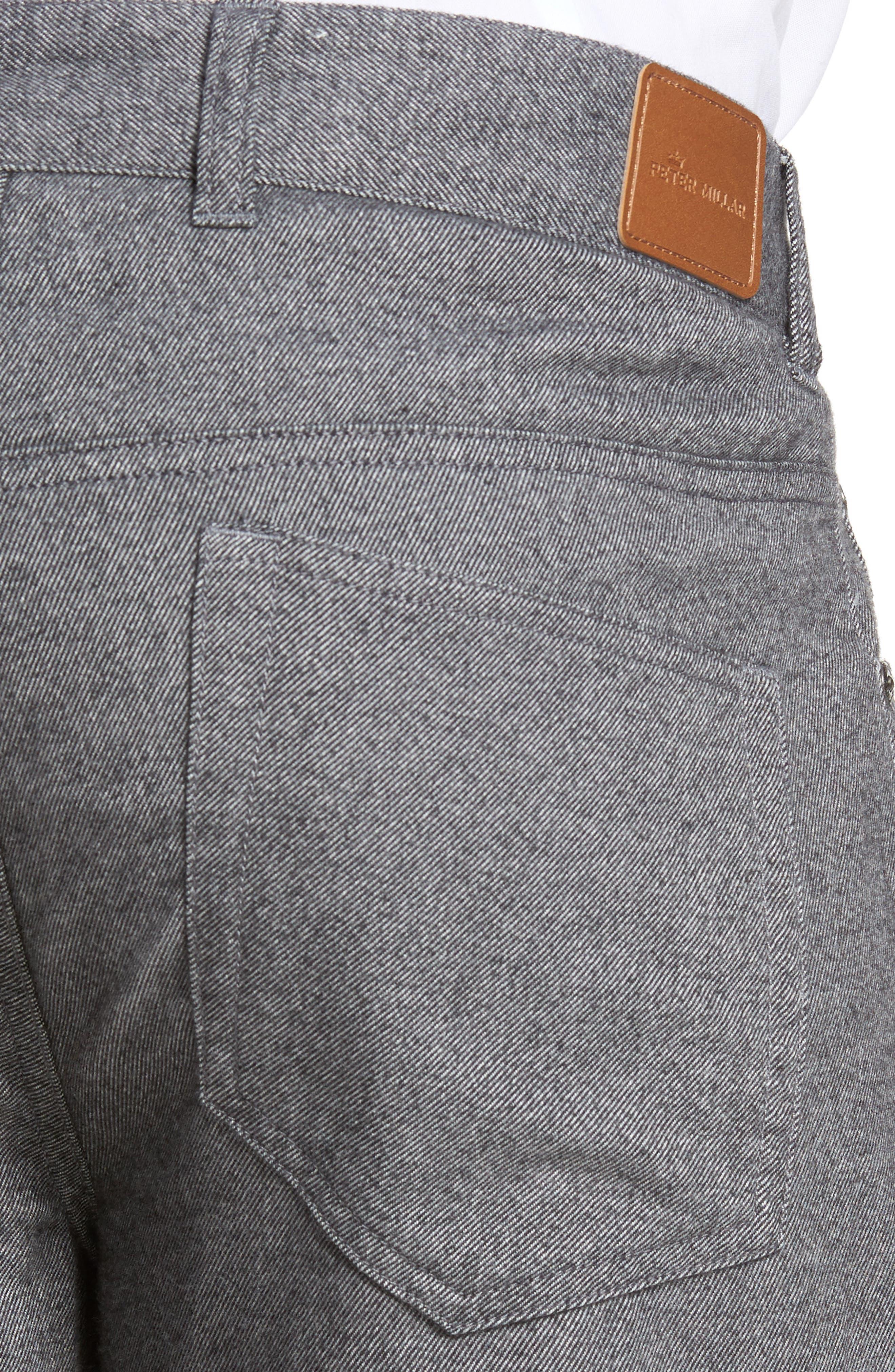 Mountainside Flannel Five-Pocket Pants,                             Alternate thumbnail 4, color,                             033