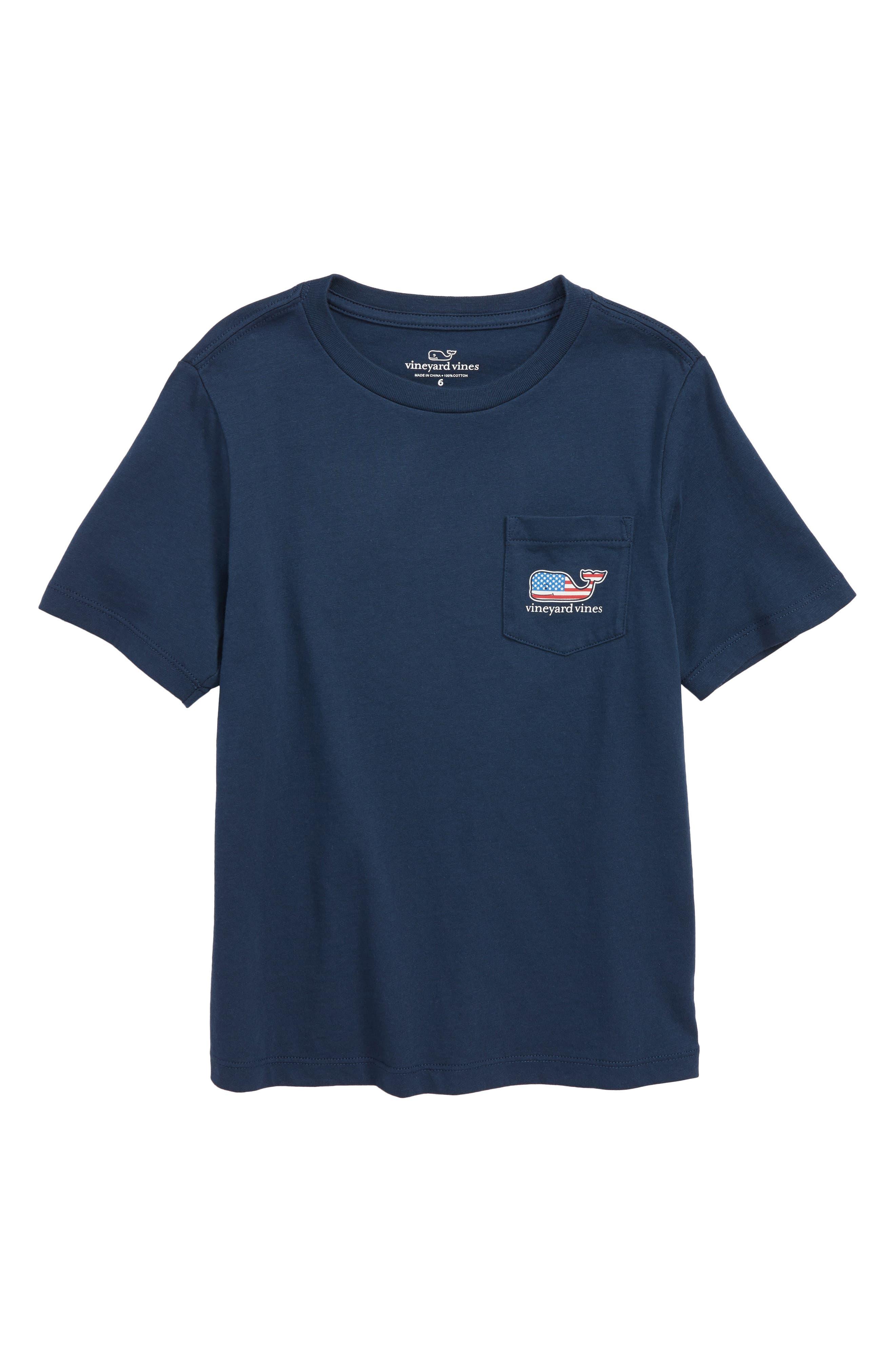 Flag Whale Pocket T-Shirt,                             Main thumbnail 1, color,                             406