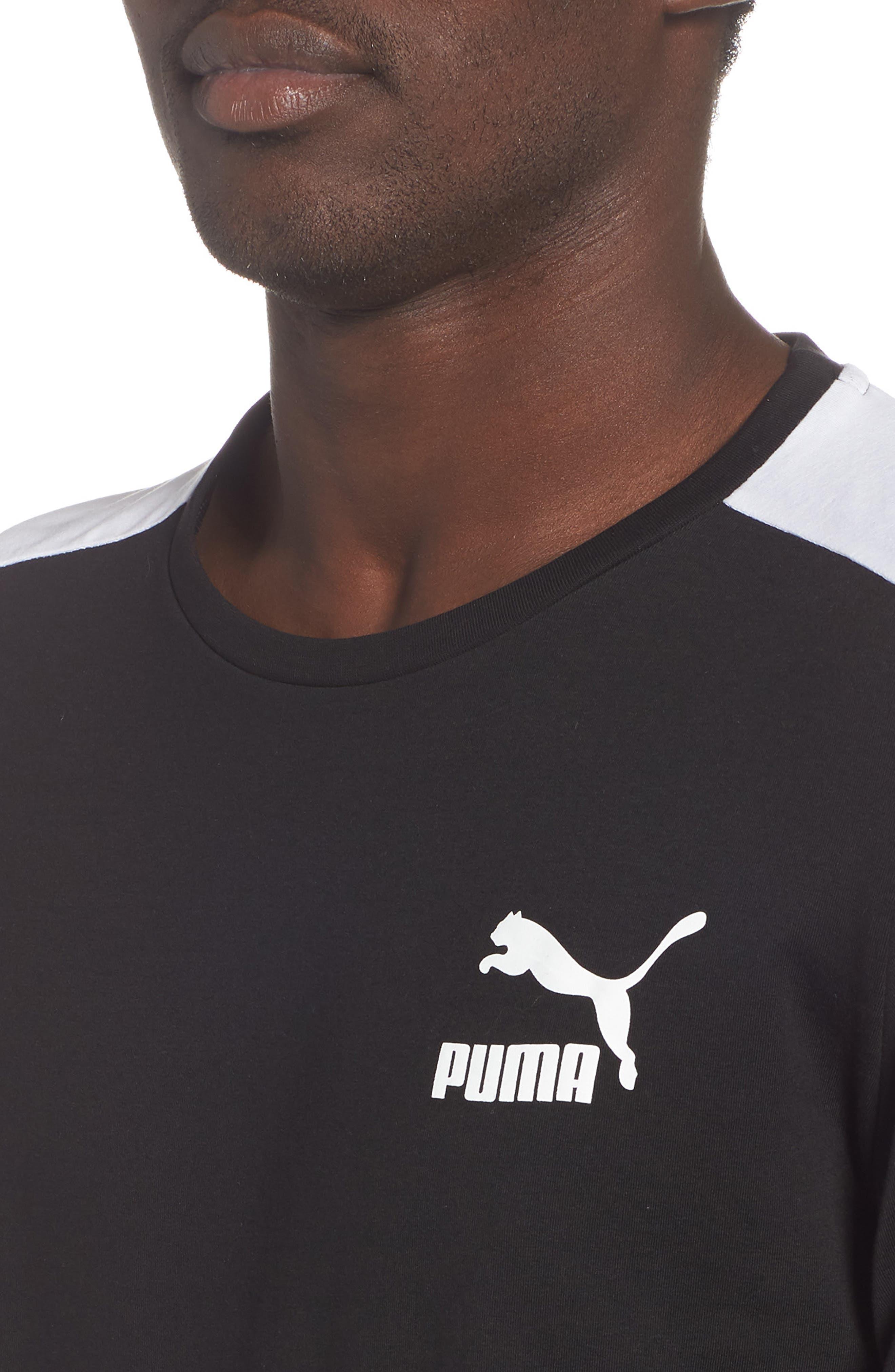 Slim fit Classics T7 T-Shirt,                             Alternate thumbnail 4, color,                             BLACK
