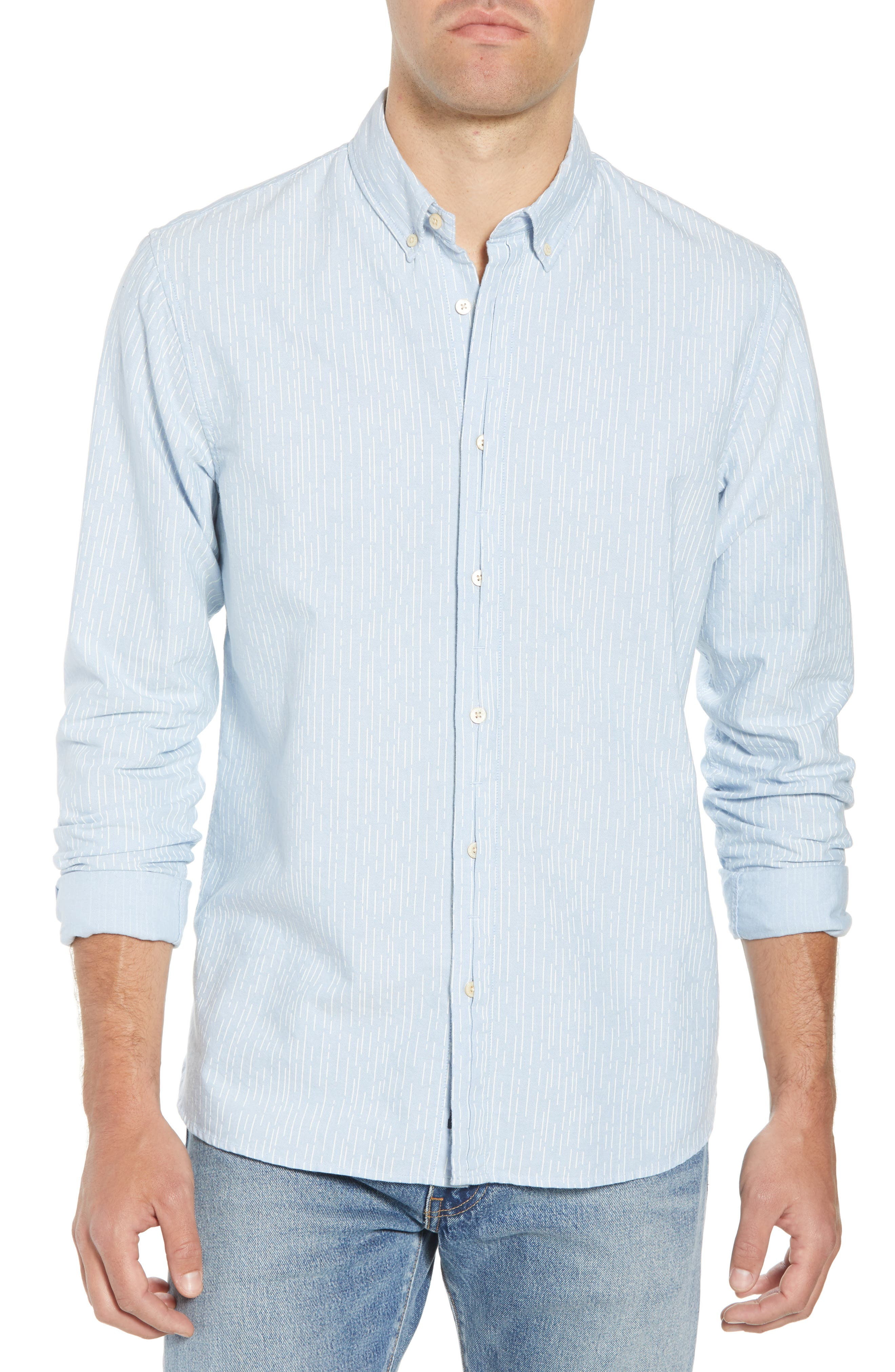 Amsterdams Blauw Striped Sport Shirt,                         Main,                         color, 420