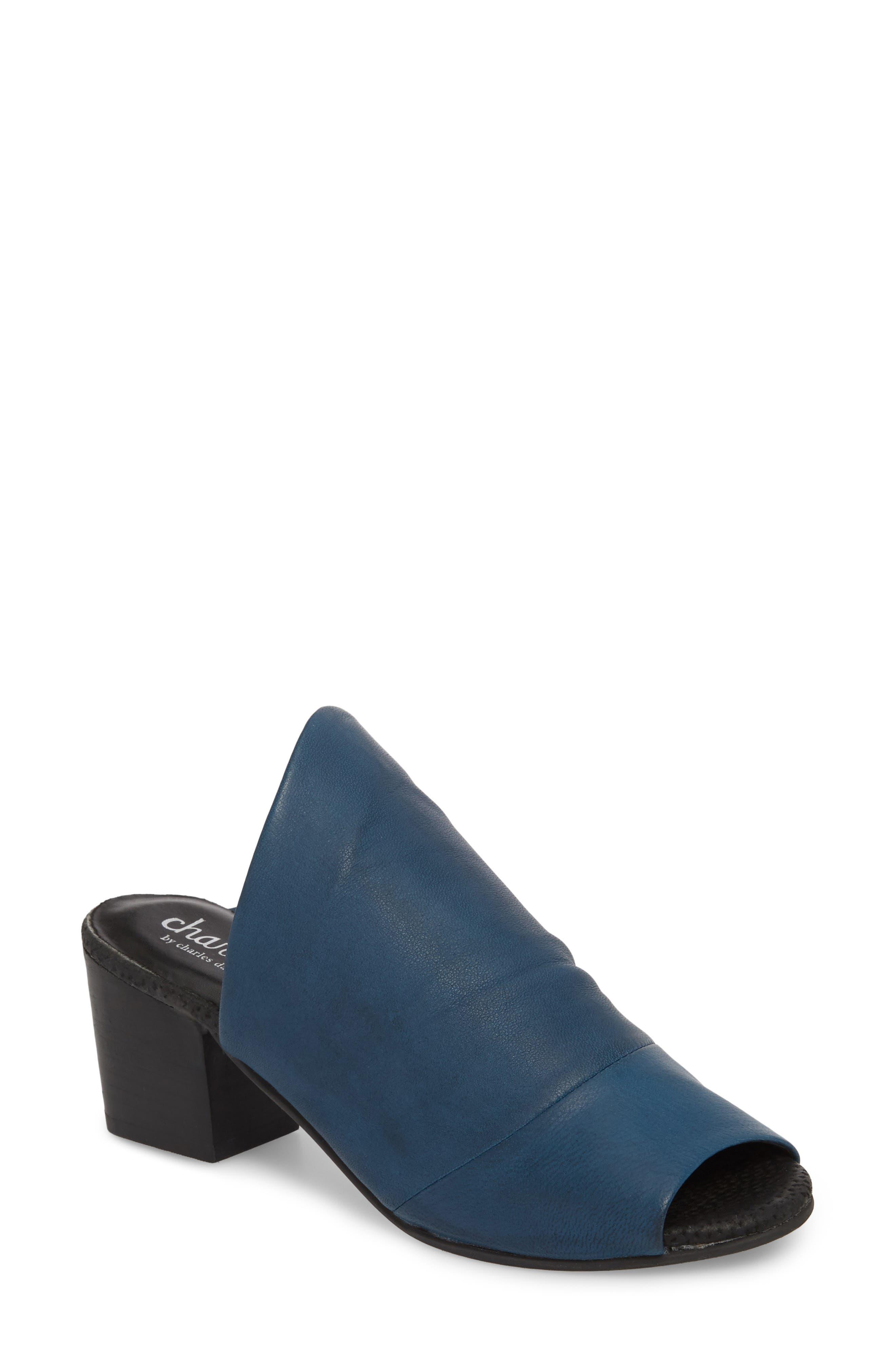 Charles By Charles David Yanna Block Heel Slide Sandal- Blue