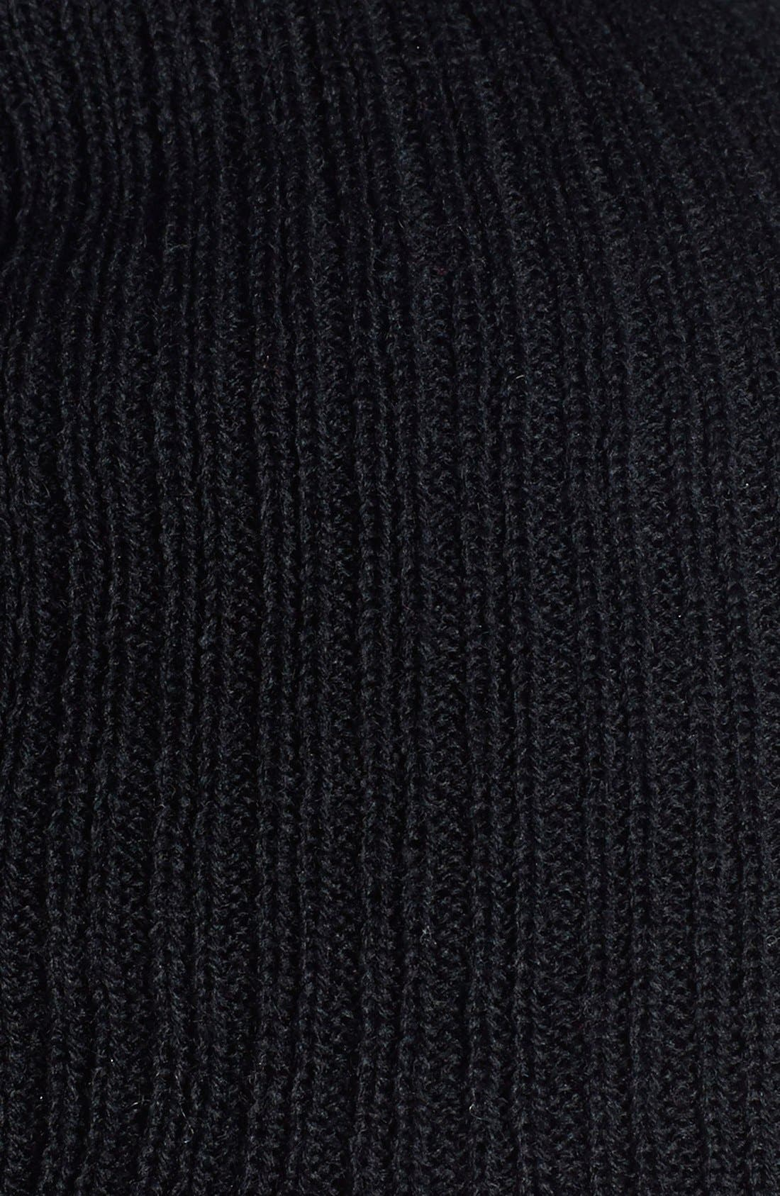Slouchy Ribbed Beanie,                             Alternate thumbnail 2, color,                             001