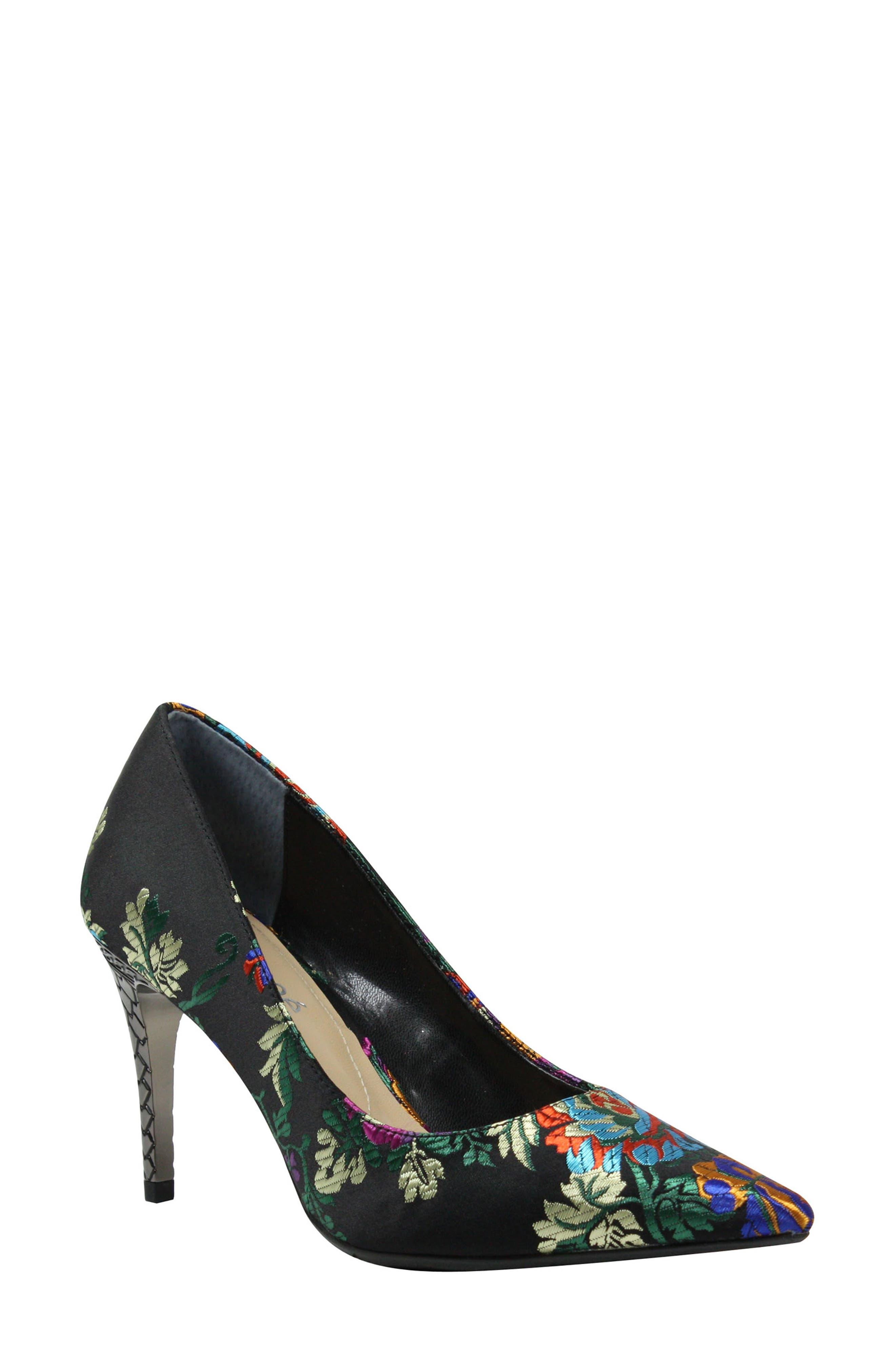 'Maressa' Pointy Toe Pump,                         Main,                         color, BLACK MULTI