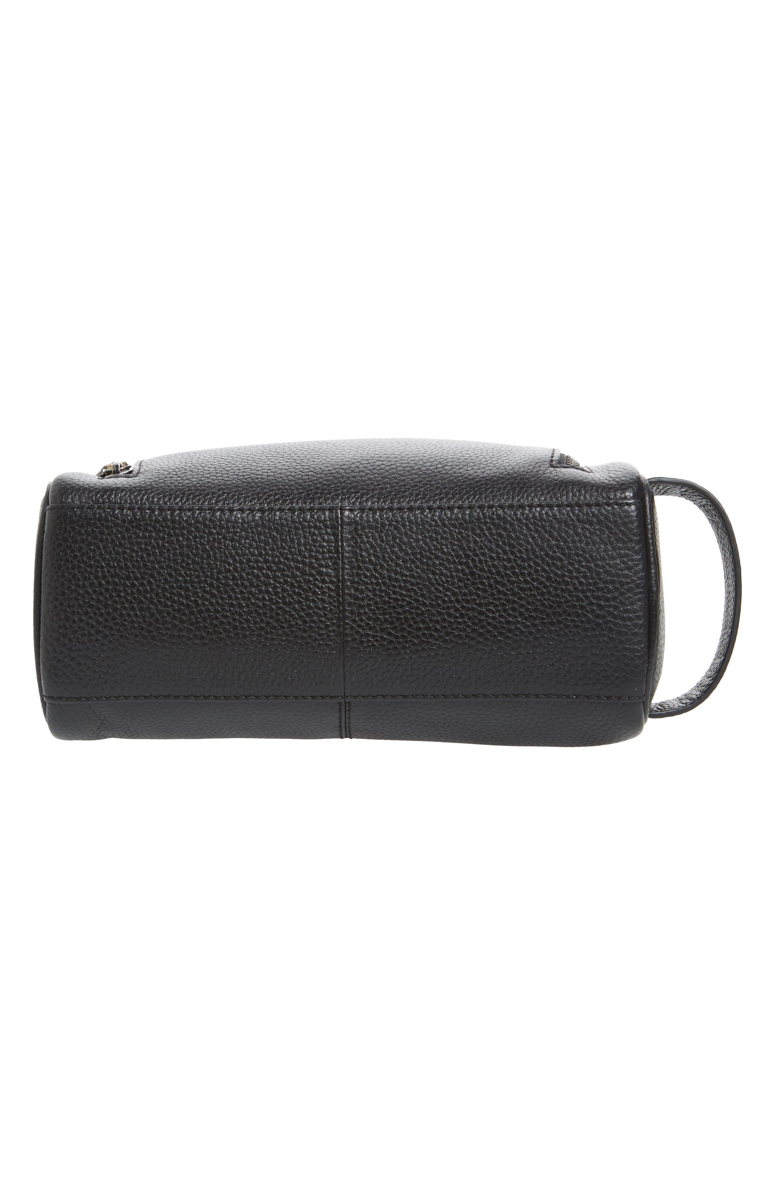 Soaps Leather Dopp Kit,                             Alternate thumbnail 5, color,                             BLACK