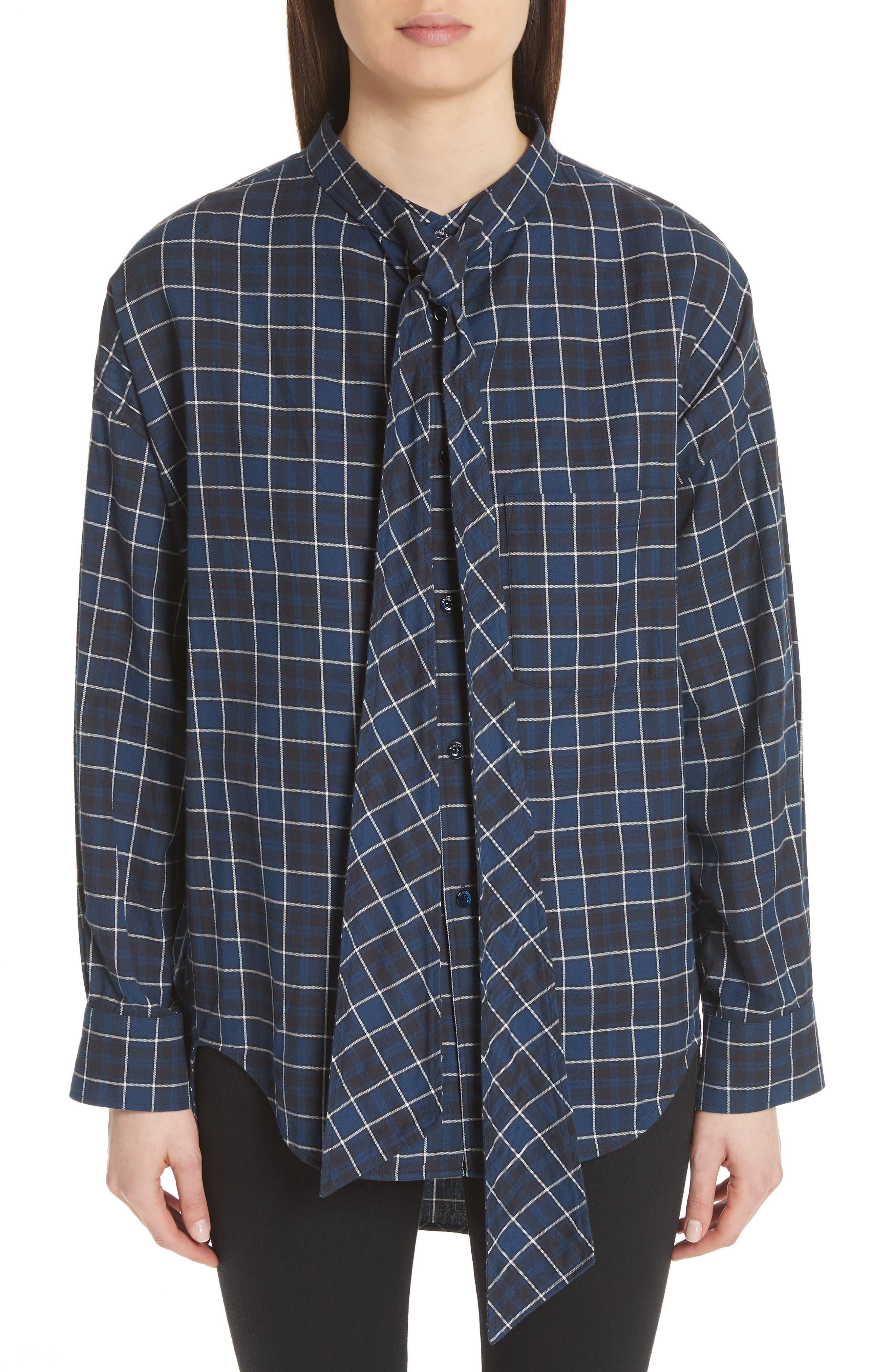 Back Logo Flannel Shirt,                             Main thumbnail 1, color,                             406
