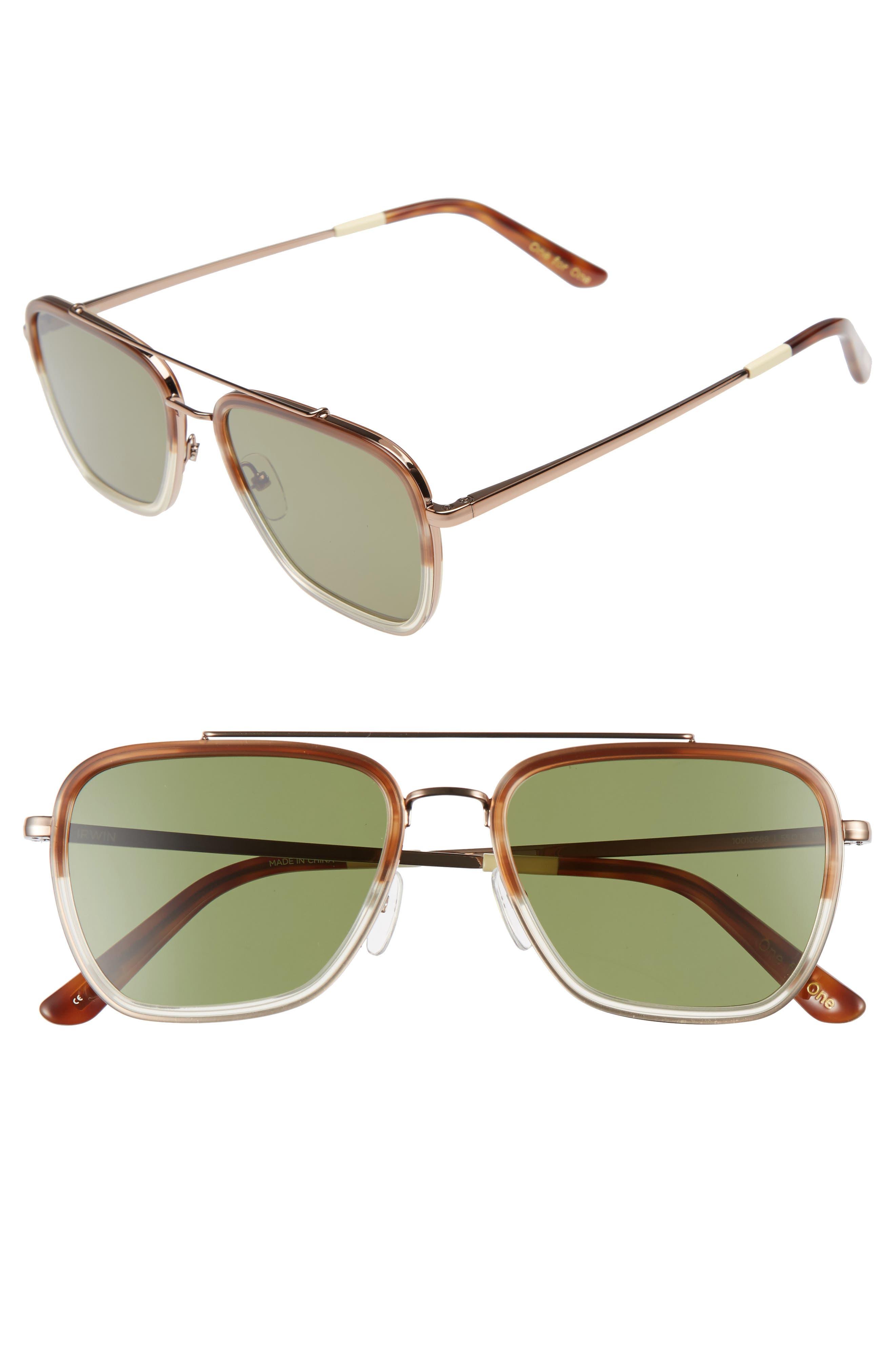 Retro Sunglasses | Vintage Glasses | New Vintage Eyeglasses Mens Toms Irwin 55Mm Sunglasses - Whiskey Tort $169.00 AT vintagedancer.com
