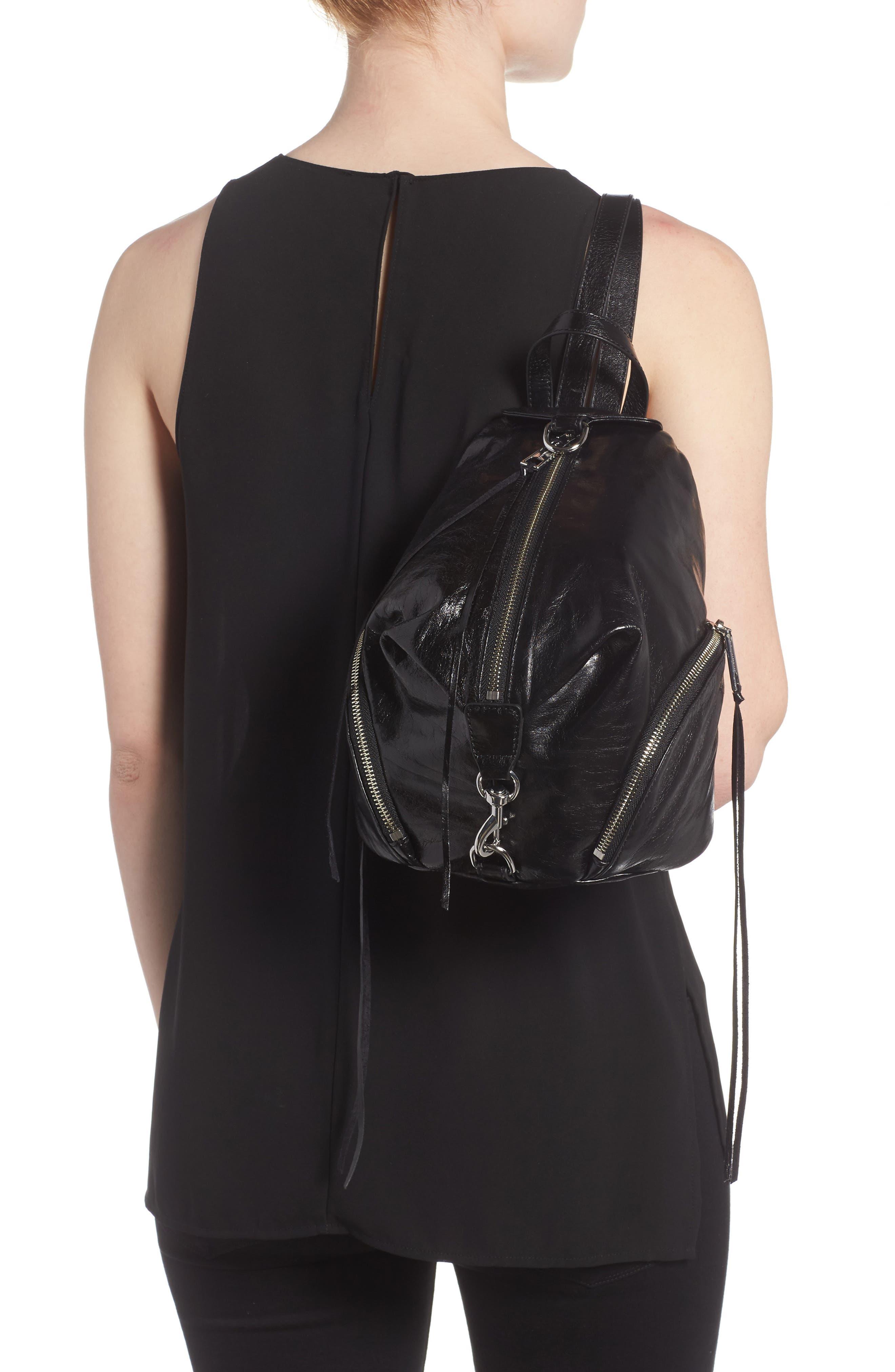 Medium Julian Leather Backpack,                             Alternate thumbnail 6, color,