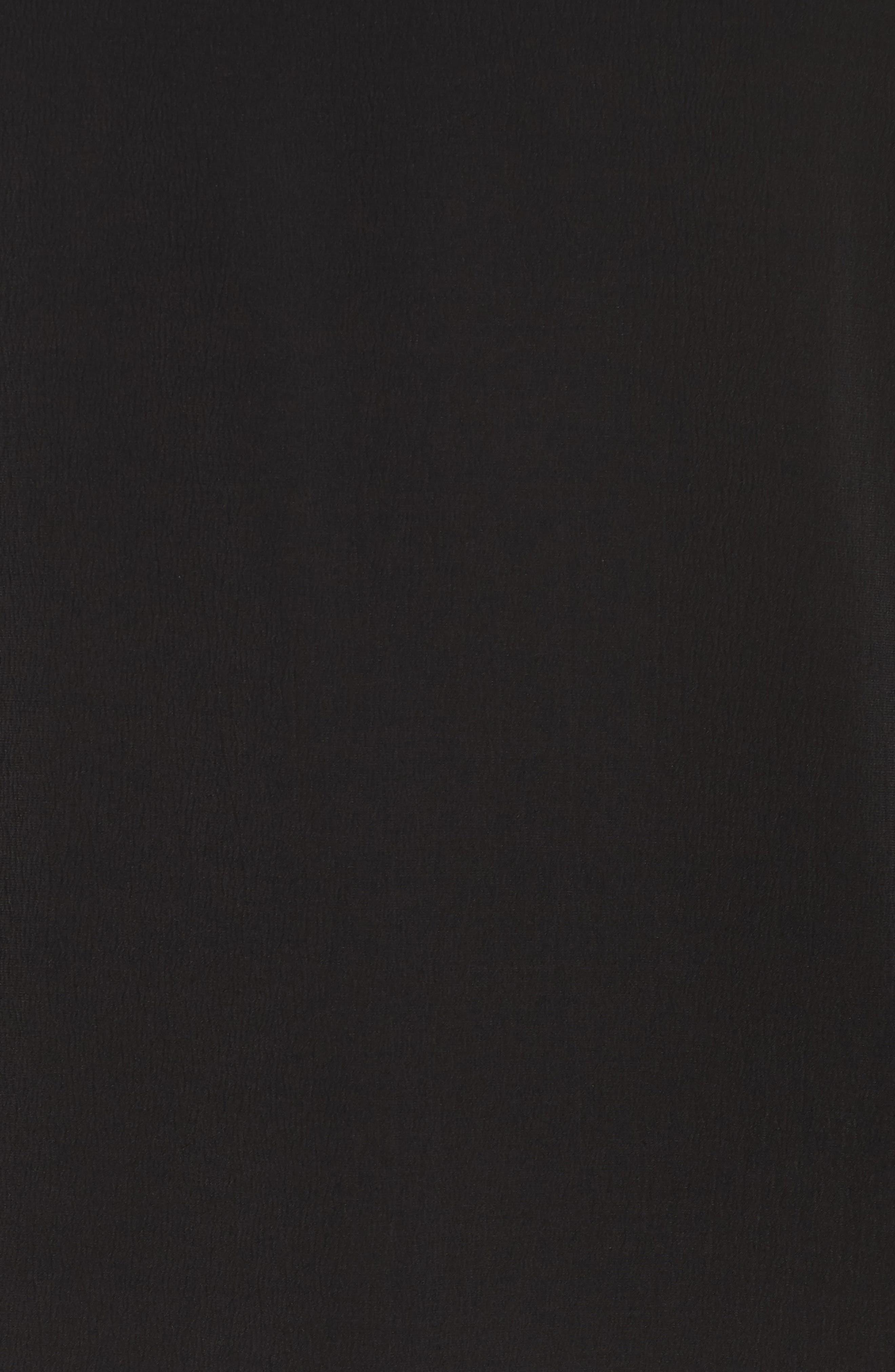 Chiffon Flutter Cuff Blouse,                             Alternate thumbnail 5, color,                             RICH BLACK