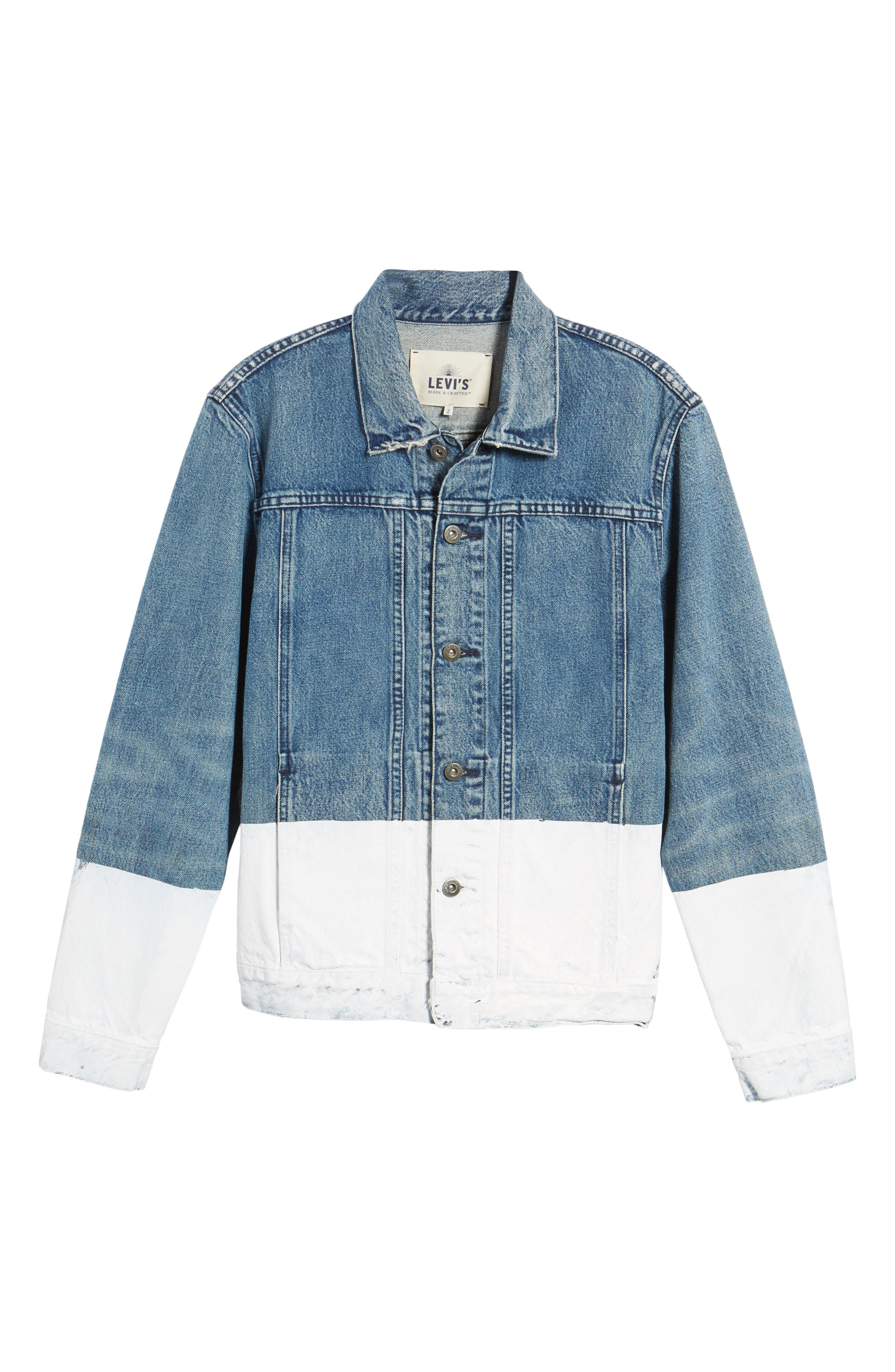 LEVI'S<SUP>®</SUP> MADE & CRAFTED<SUP>™</SUP>,                             Type IV Trucker Standard Fit Denim Jacket,                             Alternate thumbnail 5, color,                             420