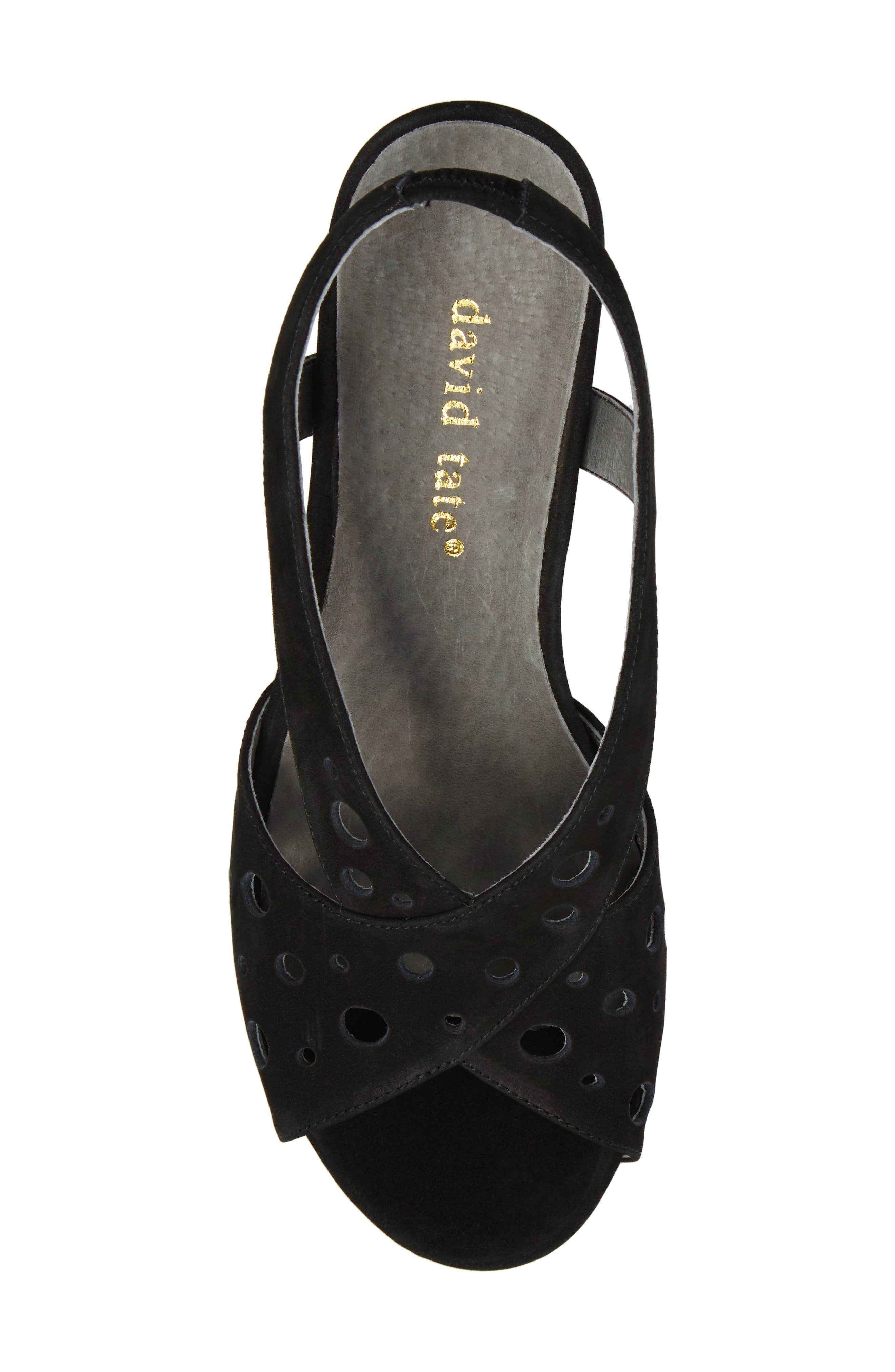 Yummy Wedge,                             Alternate thumbnail 5, color,                             BLACK NUBUCK