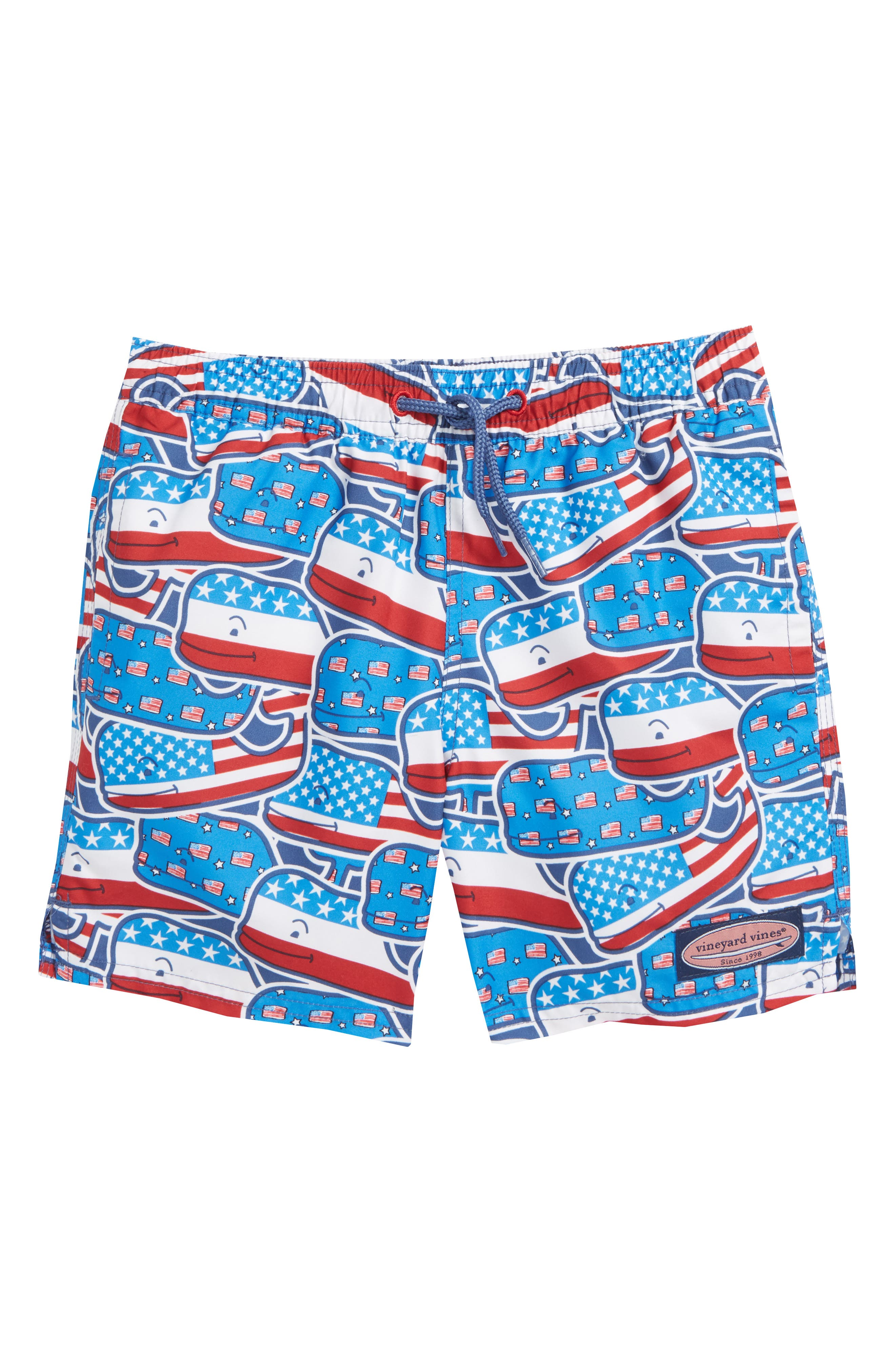Chappy Whaley USA Swim Trunks,                             Main thumbnail 1, color,                             461