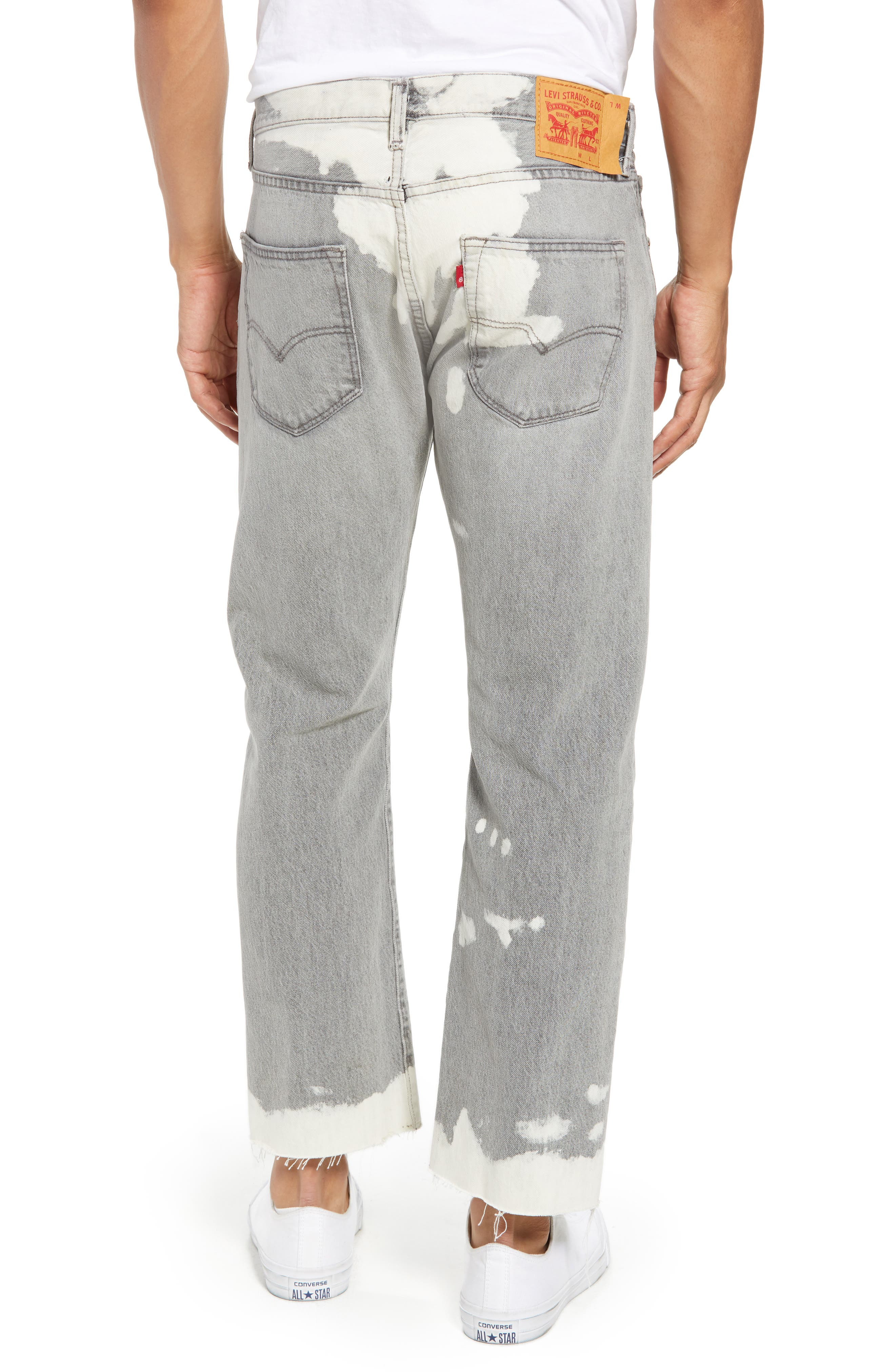 501<sup>™</sup> Straight Leg Jeans,                             Alternate thumbnail 2, color,                             020