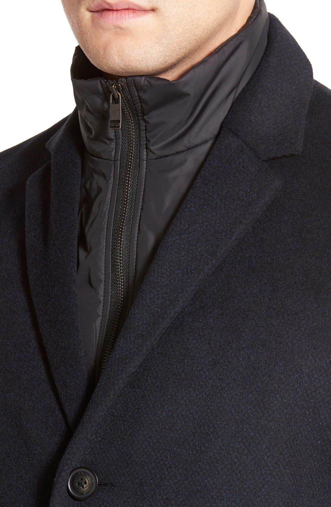 Kingman Modern Fit Wool Blend Coat with Removable Zipper Bib,                             Alternate thumbnail 8, color,