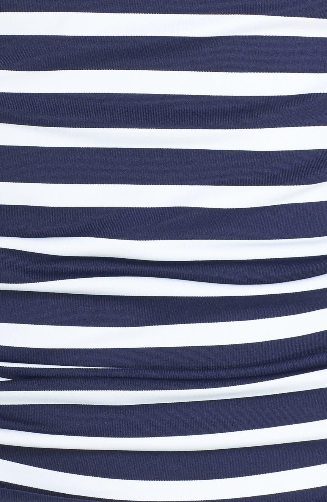 Stripe Tankini Top,                             Alternate thumbnail 5, color,                             400