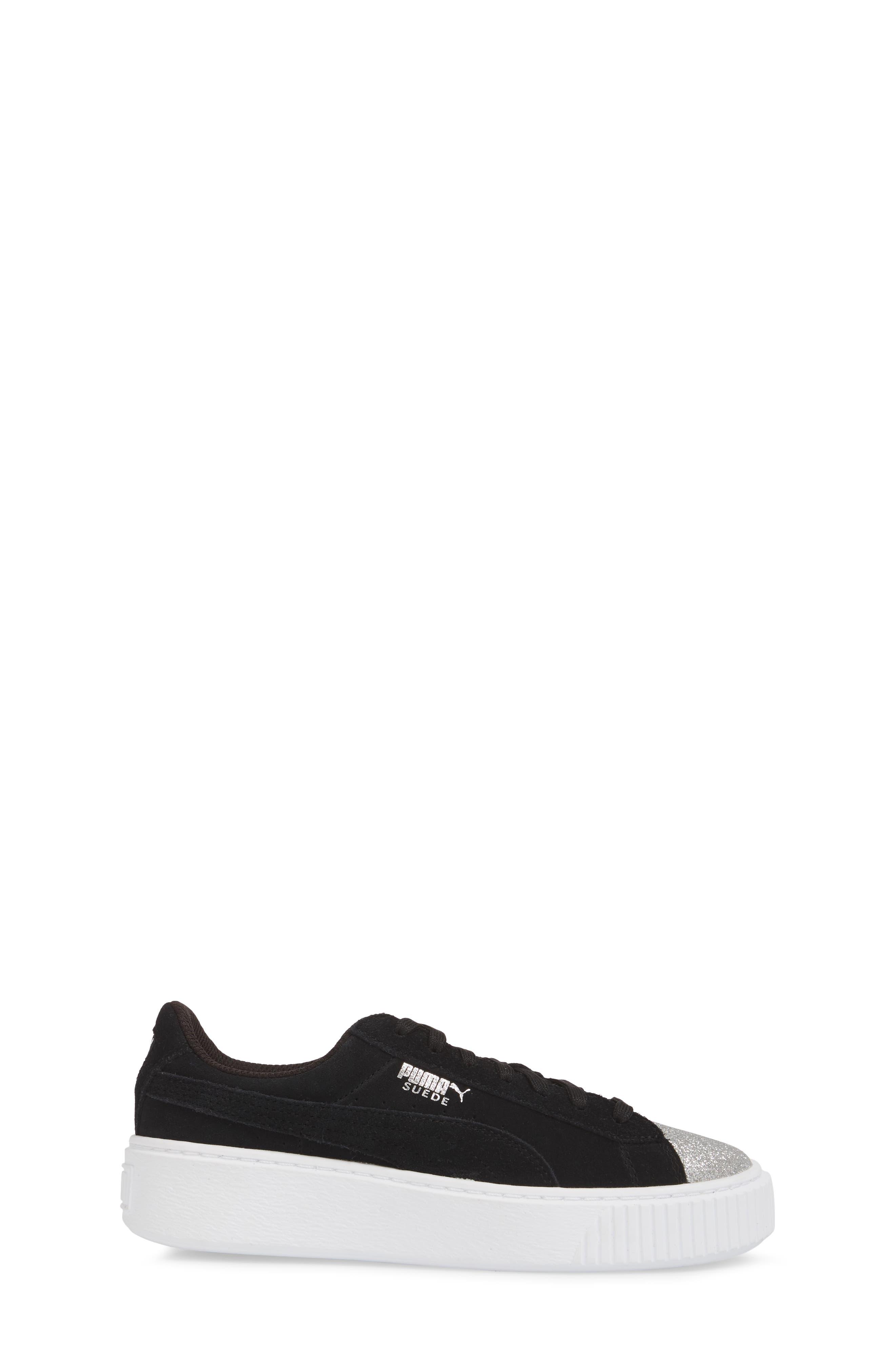 Suede Platform Glam PS Sneaker,                             Alternate thumbnail 11, color,