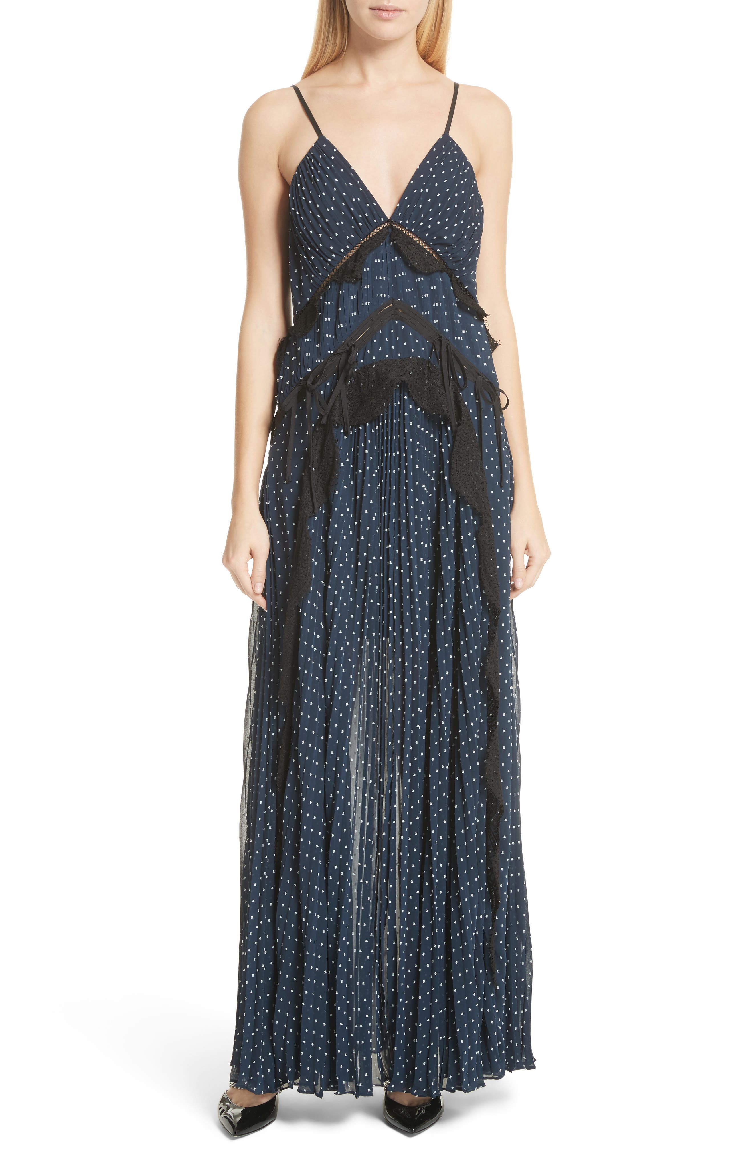 Plumetis Maxi Dress,                             Main thumbnail 1, color,                             400