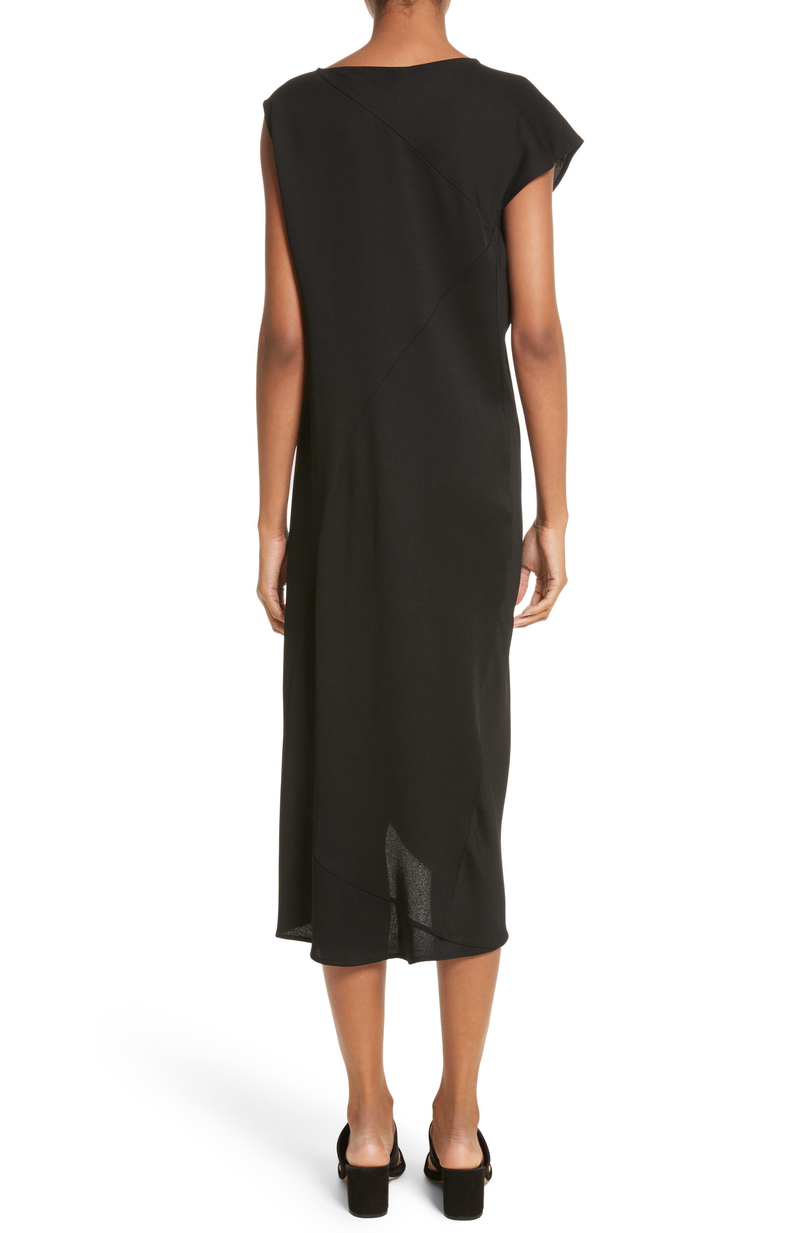 Tula Eco Drape Dress,                             Alternate thumbnail 2, color,                             001