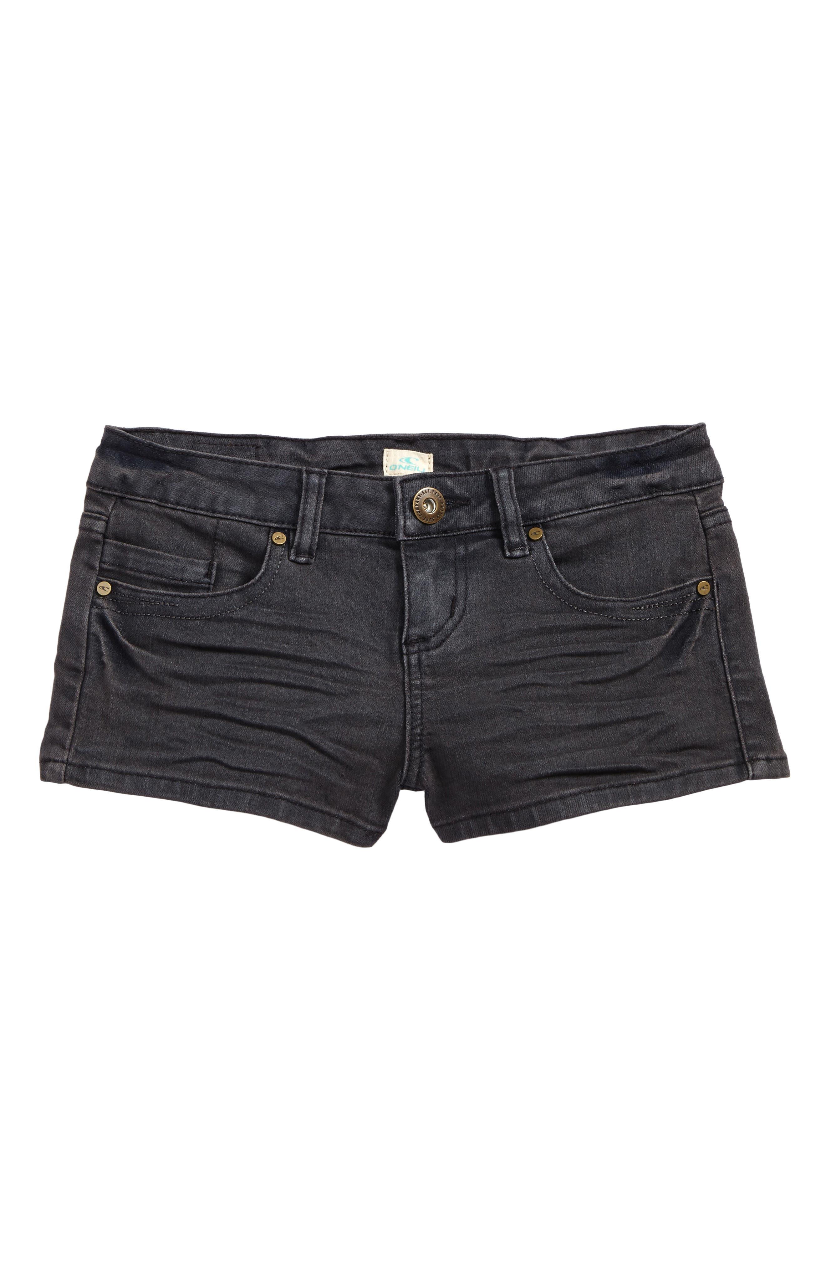 O'Neiil Waidley Denim Shorts,                             Main thumbnail 1, color,                             SLATE WASH - SLT