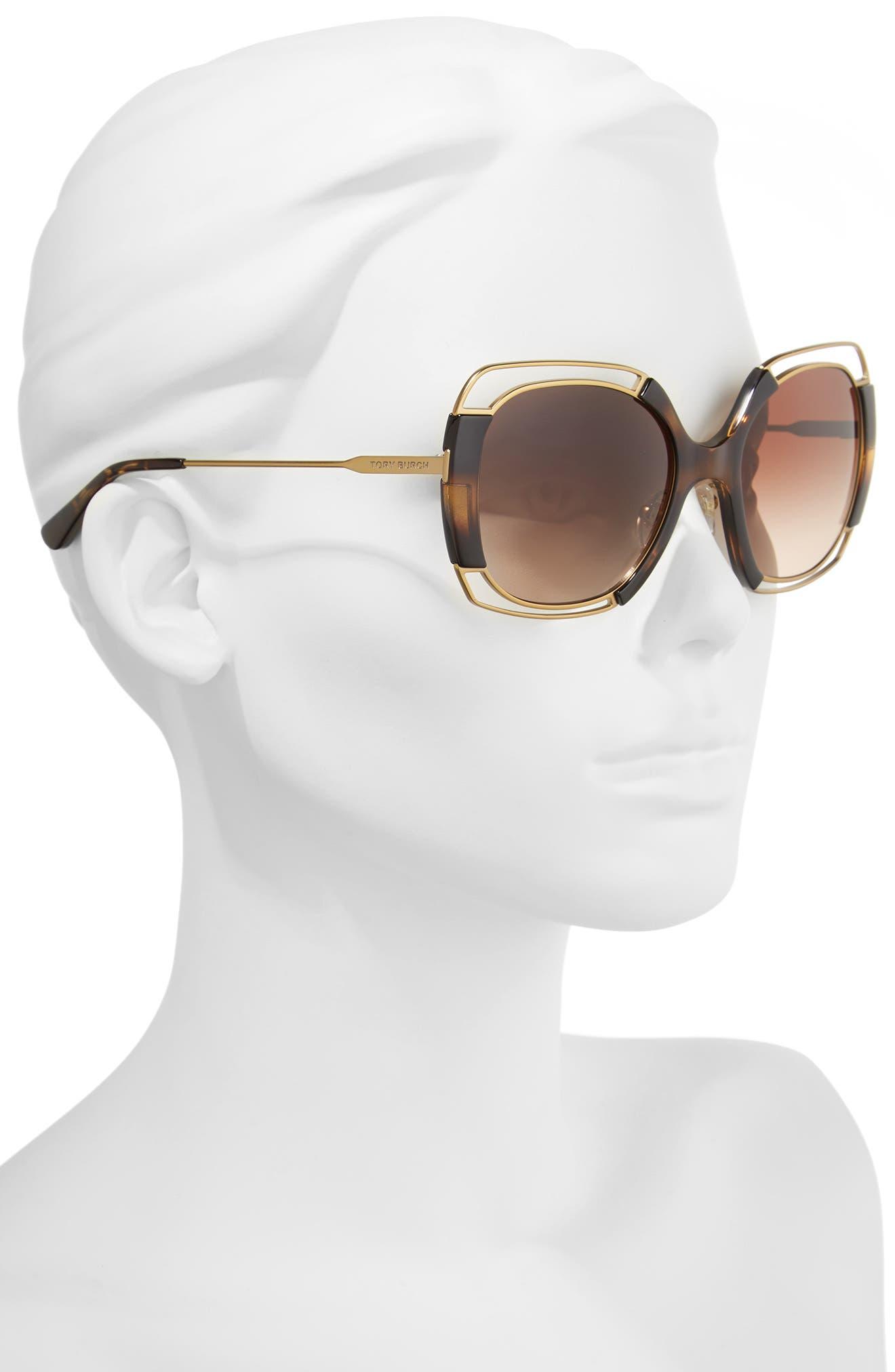 54mm Square Gradient Sunglasses,                             Alternate thumbnail 6, color,