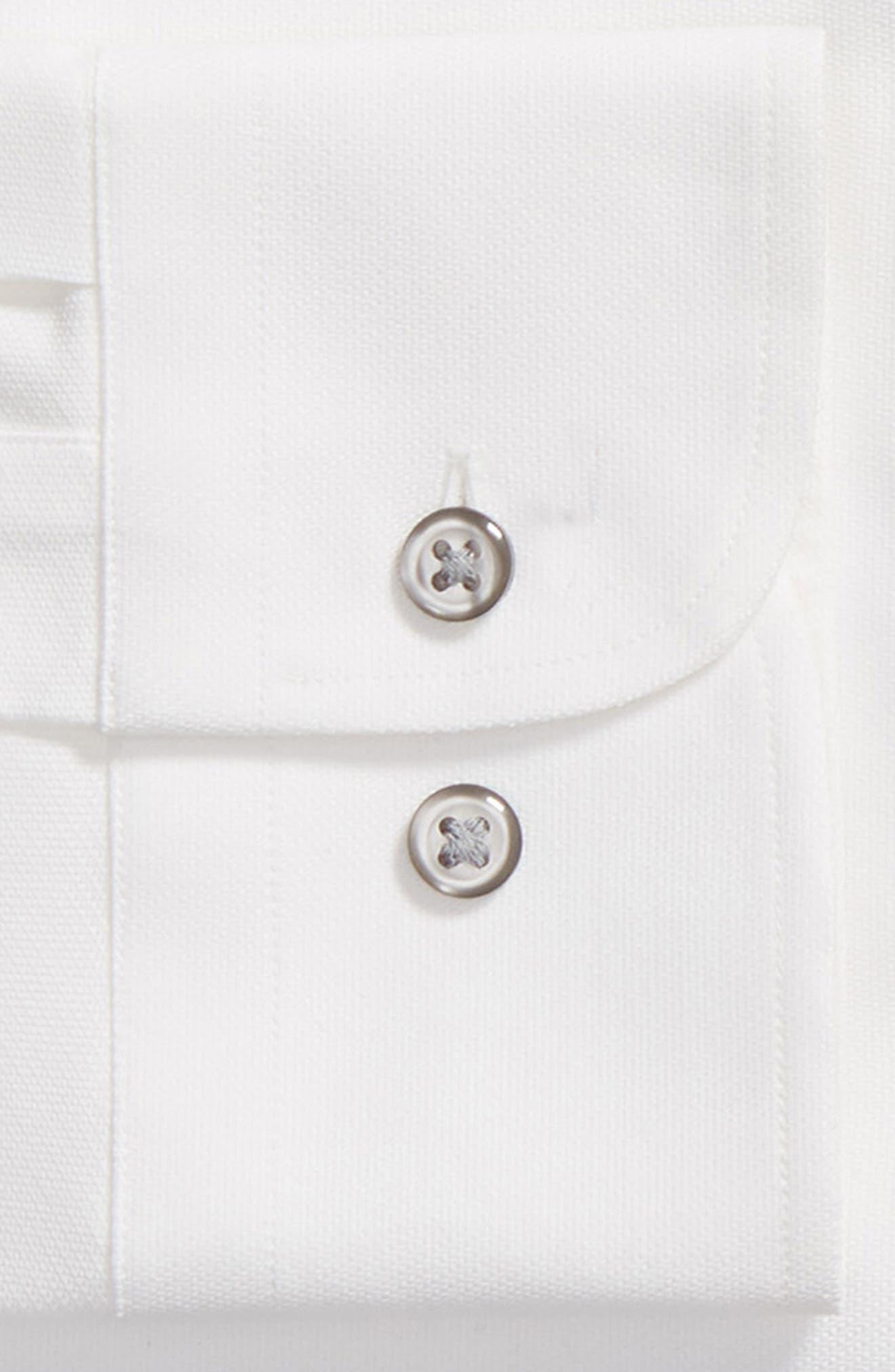 Tech-Smart Trim Fit Stretch Texture Dress Shirt,                             Alternate thumbnail 6, color,                             WHITE