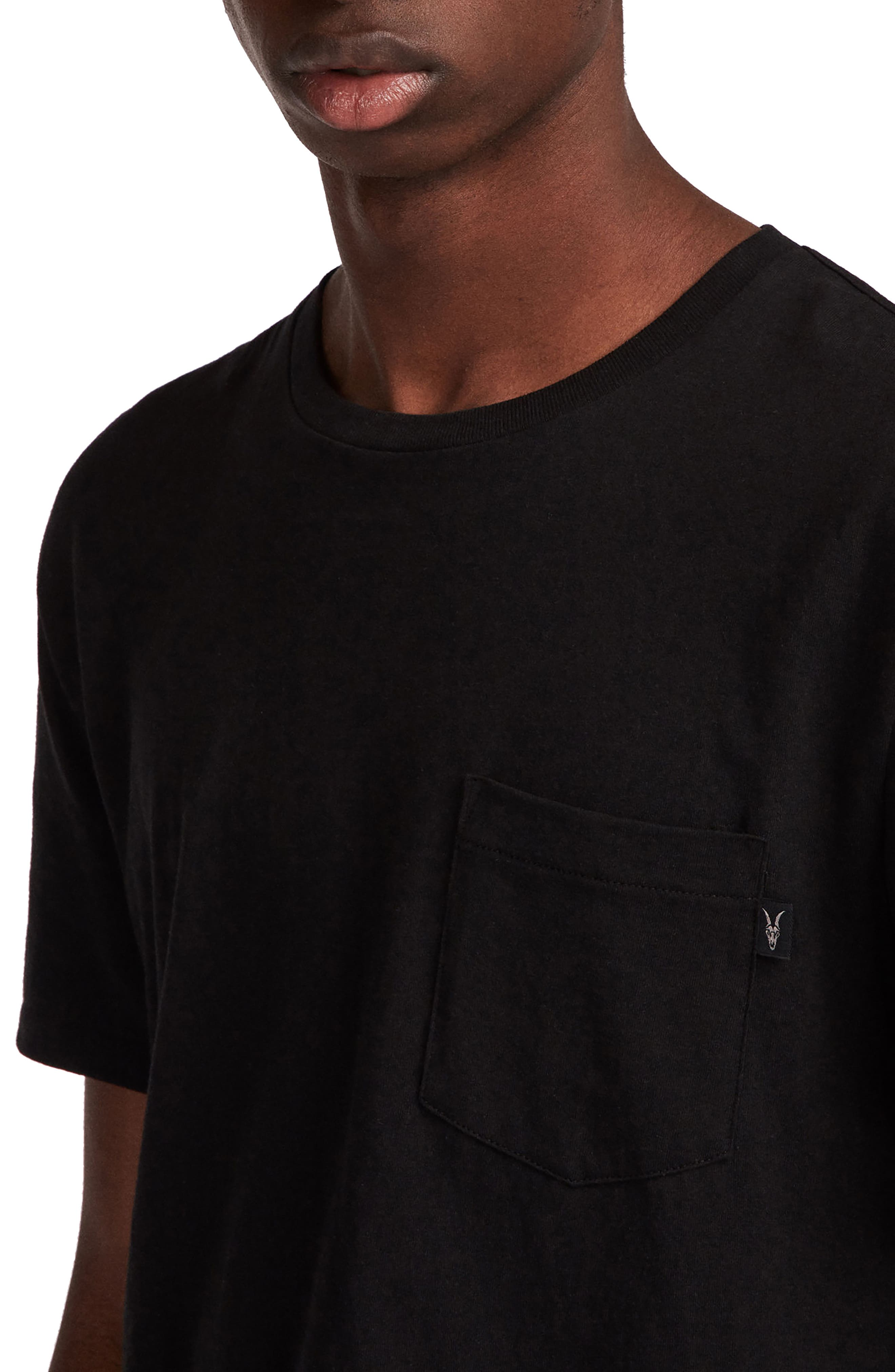 Cure Tonic Slim Fit Pocket T-Shirt,                             Alternate thumbnail 3, color,                             003